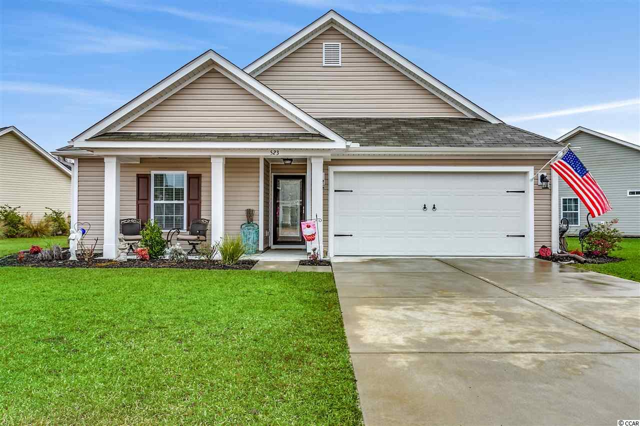 """Beauty AND Desirable Location- This bright, wonderfully appointed, immaculate with open floor plan, only two years young home is located in one of Little River's newest and finest communities. Palm Lakes Plantation with its palm tree lined entrance, wide streets, sidewalks, beautiful pools, pool house, children's playground, active HOA for all ages - all enhance the neighborhood and its warm """"community."""" It is also perfectly located only minutes from the beach, Main Street, North Myrtle Beach, Hwy 31 Bypass, and the popular NMB Sports and Rec Complex. This 3BR/2BA Concord Model home includes many special features to include: Natural gas, screened porch, vaulted and tray ceilings, beautifully engineered hardwood floors, 42 inch cabinets, granite counter tops, stainless steel appliances, 2 pantries, gas range and gas hookup for outdoor grill, walk-in closets in every bedroom, 2 inch blinds on all windows, workshop and shelving in garage PLUS a Versa lift to access and add extra storage for belongings in floored attic over garage. A large, wide open common area borders the owners' backyard forever providing privacy and welcomed open space! This is truly a great home awaiting a new owner that appreciates a home well cared for and a community that welcomes new families to their neighborhood."""