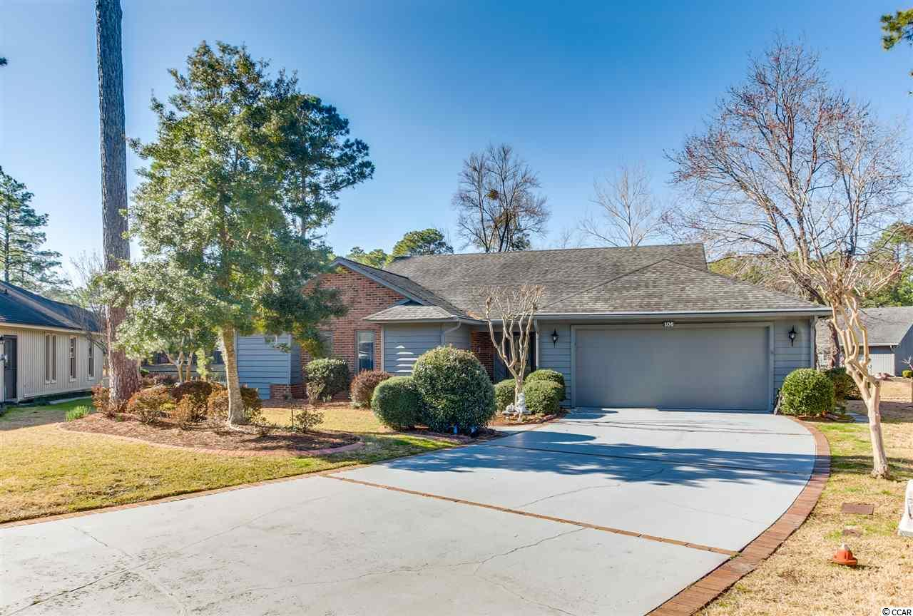 Myrtle Trace 3BR/2BA home in 55+ Community. This home has many recent upgrades and is situated on a beautiful lake lot in cul de sac. Stainless appliances, washer/dryer & window treatments, 2 car garage, deck, screened gazebo & more! A unique desirable lot on beautiful lake. A must see to appreciate.