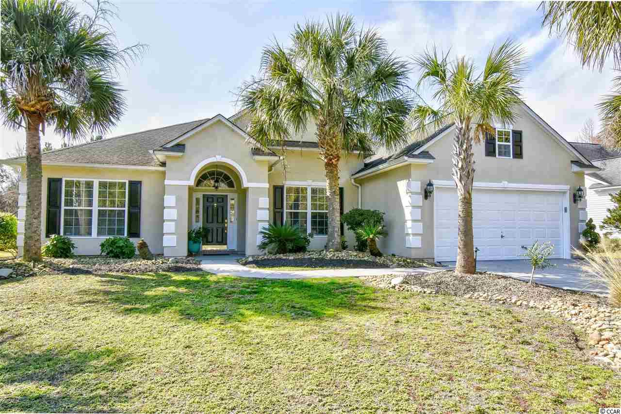 "Spacious 4BR/31/2 BA stucco ranch located in the Cedar Creek section of the Prestigious Barefoot Resort. This home has a split floor plan with TWO MASTER SUITES!  The eat-in kitchen has 42"" cabinets, corian countertops, a work island, stainless steel appliances and is open to the family room which has 12 foot ceilings.  This open floorplan also includes a dining room and sunroom.  The enclosed bright sunroom has tile floors and even a wet bar for a great place to entertain family and friends.  Premium lot with woods behind for privacy between you and the golf course.  Half of the back yard is fenced in for the convenience of pet owners.  The HVAC was replaced in 2014. Barefoot HOA fees are among the best on the beach.  They include access to the residence Club with a fulltime activities director which includes a fitness center, large outdoor swimming pool, tennis and basketball courts. The HOA dues also cover basic cable, wireless internet and the best part is Barefoot's very own Private Beach Cabana for owners only with gated parking, bathrooms, and much more.  Come see what Resort living is all about."