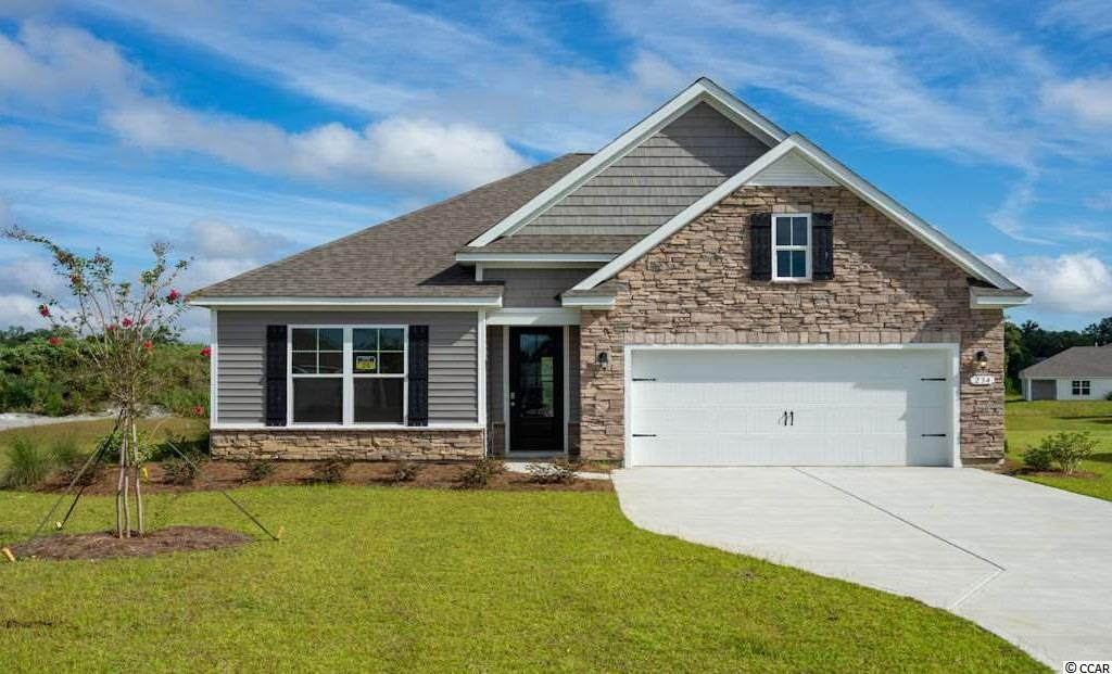 """Inlet Reserve is the place you want to call home! This is a natural gas community featuring 69 spacious homesites with private and pond views, conveniently tucked away in the heart of Murrells Inlet , yet just a short drive to championship golf courses, marinas, shopping, hospitals, beaches and the Marsh Walk where you'll find year round entertainment and award winning restaurants with spectacular views of the salt marsh and wild life.  If you are looking to downsize, upsize, or to add a pool and create your own outdoor living space, Inlet Reserve has the homesite and home for you.  We offer a mix of 1 story and 2 story thoughtfully designed open living floor plans, perfect for entertaining family and friends. The popular Claiborne floor plan offers a very comfortable open feel and designed for entertaining. This is a 1 story home with a stacked stone elevation on the front, 4 bedrooms, 2 bathrooms, 9ft.' ceilings, crown molding, 5 1/4"""" baseboard, trimmed out windows and 8ft. entry door.This home features a large kitchen area with 36"""" staggered height cabinets , quartz countertops which includes a large gourmet island overlooking the family room and dining area, walk-in pantry, tile back splash, pendant lights and stainless steel appliances. Wood floors throughout the main living area. Owners suite and bath offers a walk-in closet, 5 ft. walk-in tile shower, double vanities and bowls. An  8FT door off the family room leads to an 8' x11'  covered porch with private view. Tasteful interior touches run throughout the house to finish off this must see home. New Community in popular St. James school district. Pictures are of a previous built home and model and are for representation purposes only.  Ask about our included Smart Home Connection! Call and schedule your appointment today!"""