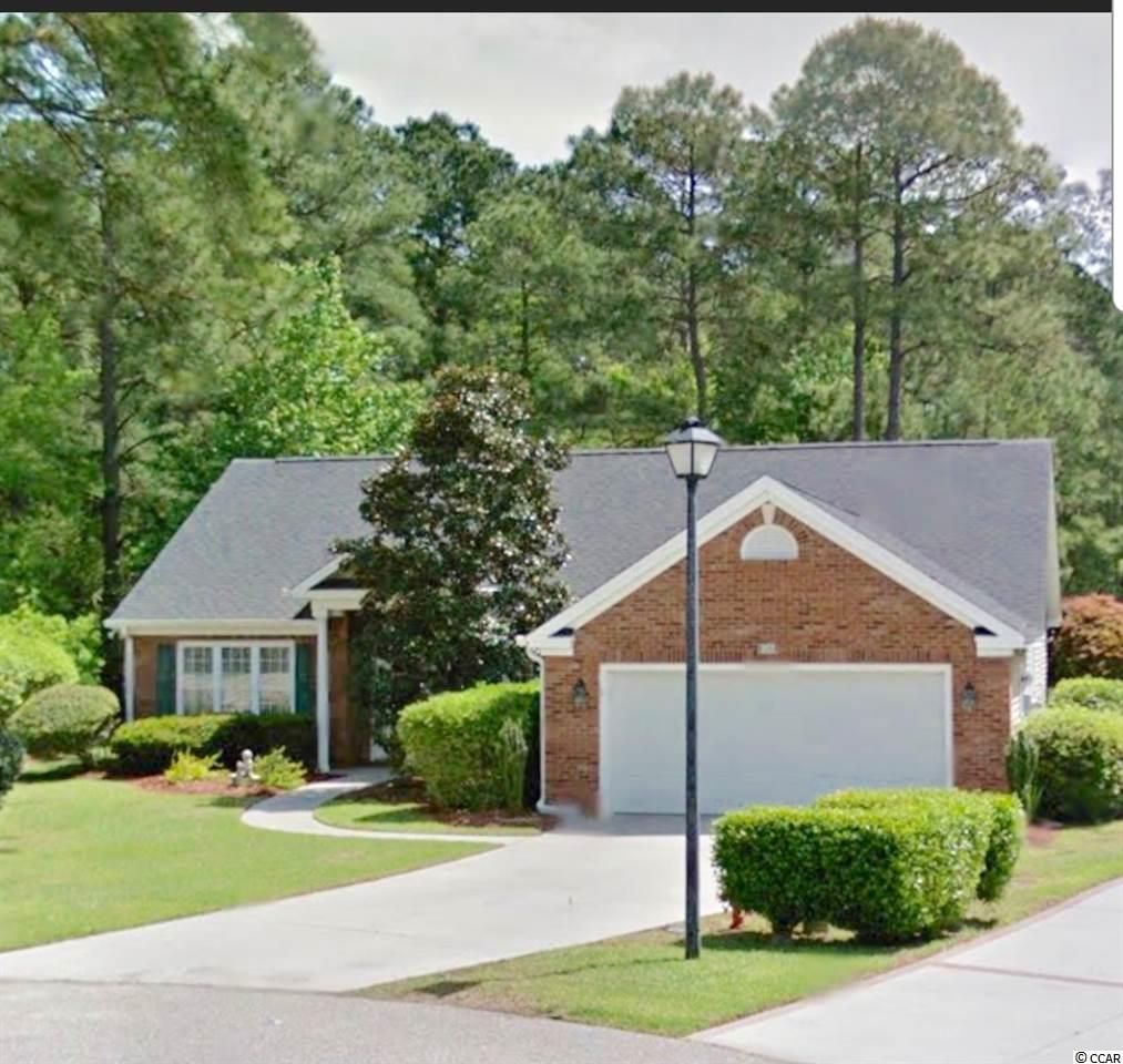 Lake home , 55+ , Listen to the birds sing at awesome home with wooded lake view from kitchen, carolina room & den (3rd BR). Age 55+ community. Open floor plan with over 2200 heated sq. ft. in lovely 3 BR, 2 BA home with formal dining on quiet cul de sac. Custom kitchen with double wall oven, corian countertops, 4 shelves high, glass front cabinets, large pantry, breadbox above lazy susan in corner of counter. Cathedral ceilings throughout. Two large walk in closets in master bedroom as well as laundry room with utility sink. All appliances stay. Immaculate and charming. Beach is 20 minutes away. .YES, LAND COMES WITH THE HOME. MYRTLE TRACE HOA FEE IS VERY LOW and taxes are extremely low compared to up North. Close to Carolina Forest, Coastal Carolina Univ., Horry Georgetown Tech, Aldi, Publix , Food Lion, Krogers, Walmart, Conway Medical Center, Dining, Lowes Home Improvement and much more. The age 55+ community has many activities including potluck dinners, movie nite, bocce ball, domino's , basketball , shuffleboard, horseshoes, line dancing, poker, scrabble , canasta, bridge , mah jongg, game night, bingo , chorus, garden club, ice cream socials & holiday parties.