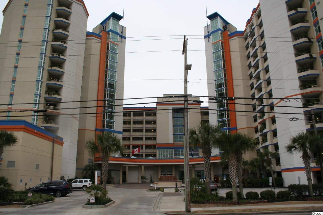 Terrific views of the beach and ocean from this beautiful furnished and upgraded one bedroom angle view ocean condo located in a topnotch oceanfront building in the northern section of Myrtle Beach, SC.   This spacious one bedroom unit features two queen size beds, a Murphy bed plus sleeper sofa, and can easily sleep eight. The upgraded interior is nicely furnished with several TV's, a washer and dryer, a spacious bath area with double sinks, and a full size kitchen comes granite counter tops, dishwasher, full size refrigerator, range with oven, and a microwave.  The amenities in the Dunes Village Resort and Dunes Village PH II are second to none featuring two indoor water parks, several pools, lazy rivers, hot tubs, kids splash areas, plus four indoor waterslides and more. There are also two restaurants on site and a coffee shop.    Terrific rental income is a plus for the investor or your family when not using the unit for  family enjoyment. Priced to sell. Hurry!