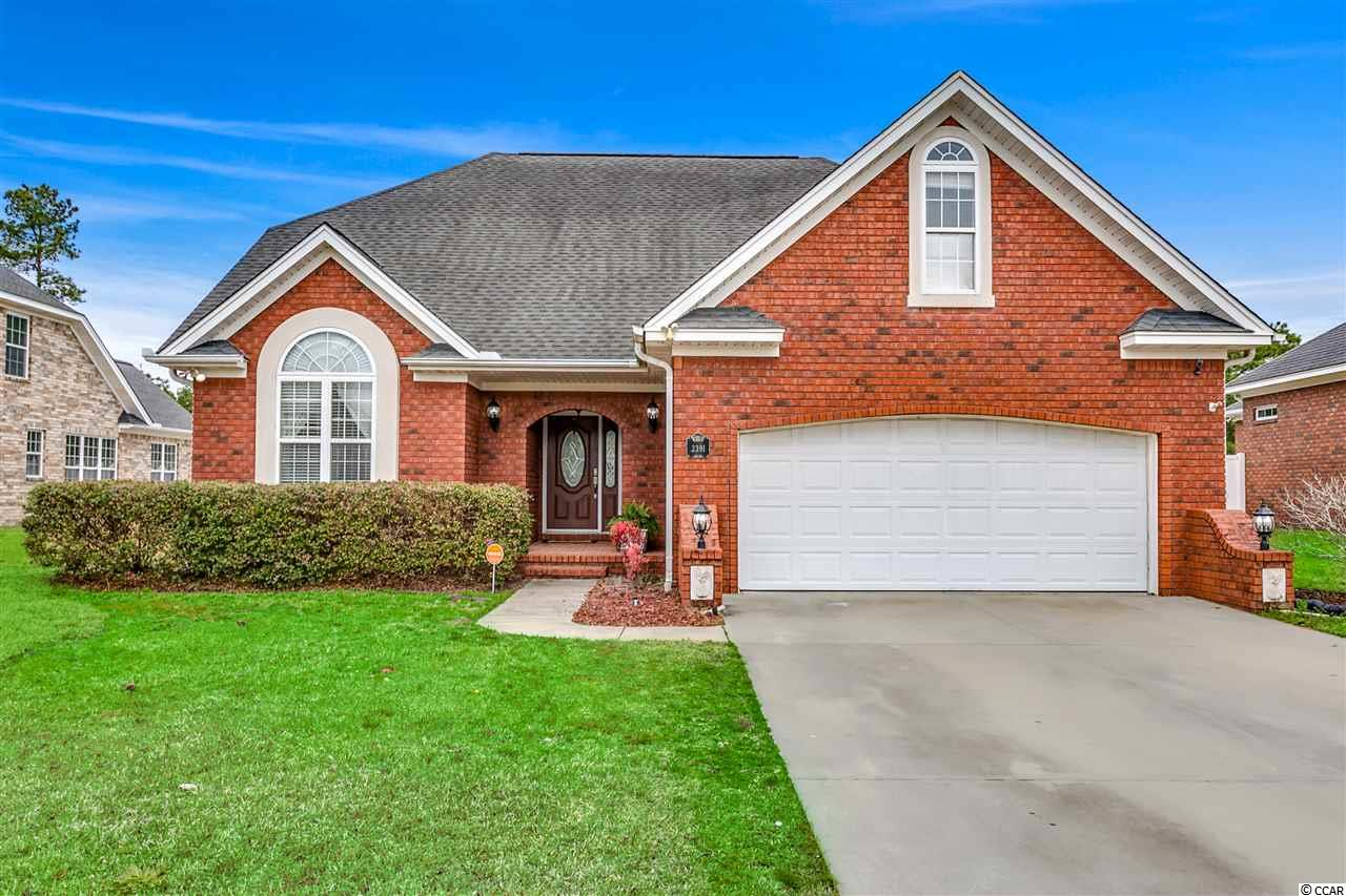 This is a must see 4 BD/3BA all brick home, located in the Covington Lake Community.  This home is situated on a large, private, fenced lot that backs up to protected wetlands. The main floor has a large eat-in kitchen and breakfast area with French Doors that lead to the screened porch, formal dining with tray ceiling, large living room with vaulted ceilings and ample natural light. Master bedroom and 1 guest bedroom with full bath on the main level.  The second floor has a 3rd bedroom and bonus room/4th bedroom, the 3rd full bath and an open loft area that overlooks the living room perfect for an office, den or playroom. Your private yard boast a large patio, a brick sitting wall for all your large backyard events. If a pool is on your wish list you have plenty of room to add, along with an outdoor kitchen. New HVAC, new carpet through out and all kitchen appliances have recently been replaced.  Covington Lake is an all brick or stucco community, amenities include a community pool, basketball area, child's playground, sidewalks, low HOA and located in the award winning Carolina Forest School District. Call today to view!