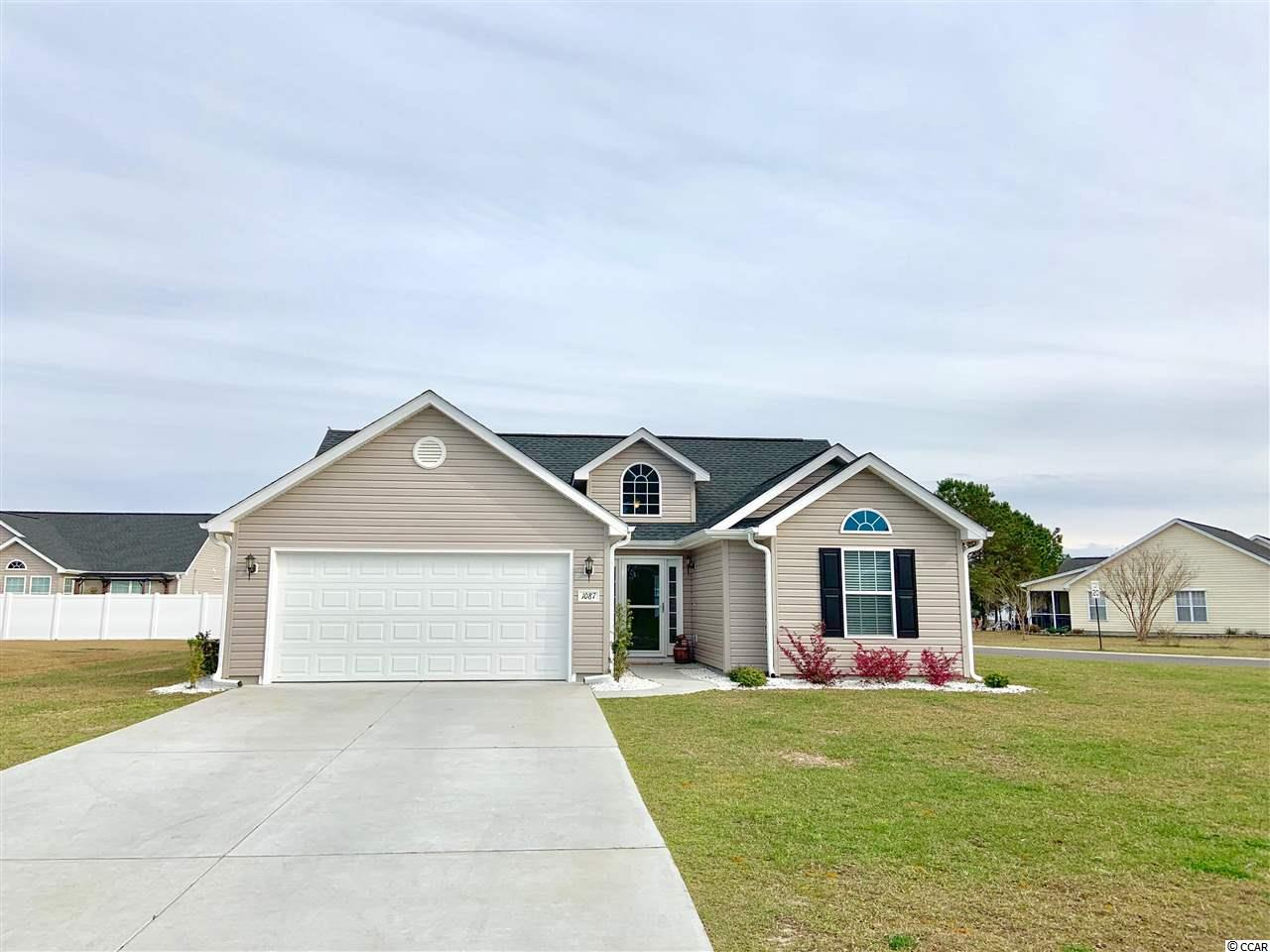 You MUST SEE this lovely 3 bedroom, 2 full bathroom, 2 car garage home located in the community of Mallard Landing Village! Conveniently located and sits on a HUGE-CORNER LOT! Built in 2017, this like-new home has much to offer! Upon entering the foyer you are greeted by an open & bright great room with vaulted ceilings and faux wood flooring throughout the entire home! Enjoy your open kitchen and breakfast nook accented by a beautiful bay window. The split floor plan allows for privacy and spacious bedrooms. In the master bedroom you will find tray ceilings & an ample amount of space in the walk-in closet. Relax on the outdoor patio, a perfect space to grill out and enjoy! This home is only a short golf cart ride to the beach and close proximity to Market Common, The Murrells Inlet Marsh Walk, Surfside Pier, Shopping, Restaurants and Entertainment! Don't miss out on owning this charming home at the beach!