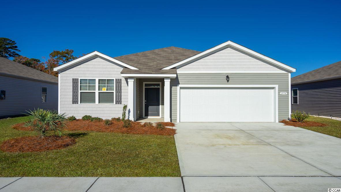 "This ""SMART HOME"" is connected!!! Lock or unlock your doors, control the temperature of your home and see who is ringing your doorbell, from your smart phone! Kitchen features stainless appliances (including refrigerator) and 36"" cabinets with pendant lights over the gourmet granite counter height island, all overlooking the spacious Living Room and Dining Room - great for entertaining! Low maintenance Solid surface flooring (resilient hardwood-look vinyl) throughout the living area, bathrooms and laundry room. From the Dining Room, sliding glass doors take you to a 12 x 8 ft. covered porch. Owner's suite offers a large walk-in closet and bath with 5 ft. shower, double vanity and sinks. Washer, dryer and garage door opener included! We are the price-leader for single family homes in Market Common! Our home owners will enjoy a gracious pool and hot tub, air conditioned pickle ball court/meeting space, walking trails and a short golf cart ride to the beach. Live like you're on vacation! Photos of home are of a model home of same floor plan in another community and are for presentation only. Square footages are approximate."