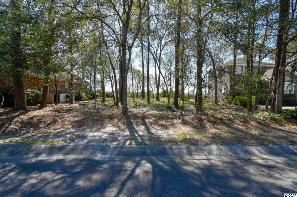 Beautiful wooded lot overlooking the famous 4th hole on the prestigious Tidewater Plantation golf course with spectacular views of the Cherry Grove marsh and Atlantic ocean.  The most convenient location on Bucks Bluff Drive, less than a block from the private Bluffs community amenity center and pool.