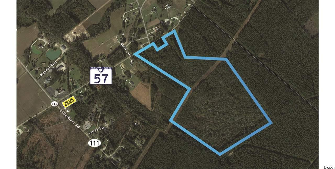 Approximately 79 Acres for sale on Highway 57 North in Little River, SC. Tract is currently zoned Commercial Forest Agricultural (CFA) allowing for numerous commercial and residential uses.  Property is located within close proximity of the future Highway 31 Extension (connecting into Brunswick County, NC) with easy access to Highway 9, Highway 31, and Highway 17.  There are multiple residential development projects within 2-3 miles of this location.  Water and sewer are available along Highway 57 with approximately 870 linear feet of road frontage.