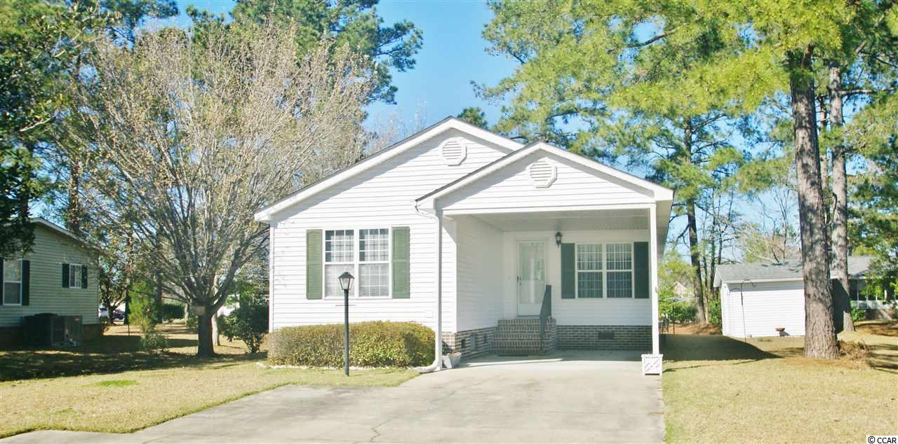 Your have found the perfect retirement village. Country Lakes on Hwy 90 in Little River, home of the Blue Crab Festival. Short drive to Ocean Drive Main Street for entertainment, shopping and restaurants. Hop on Hwy 31 and be in the South end of Myrtle Beach in a flash. This two bedroom two bath home has a split floor plan nice and roomy eat in kitchen. And the living area is huge! Pantry in the kitchen and home has a wonderful built in music system with controls for each room. HVAC and Roof replaced in 2015! 12 X 12 storage building and a carport. Carolina Room off the living area for games, extra sitting area, you decide. Country Lakes is a 55+ community. Home is on leased land. Gated community with a pool, community center and fitness center. Storage area for RV's, boats and campers. Lots of activities for the home owners. Home owners allowed pets. Hurry and check out this piece of paradise.