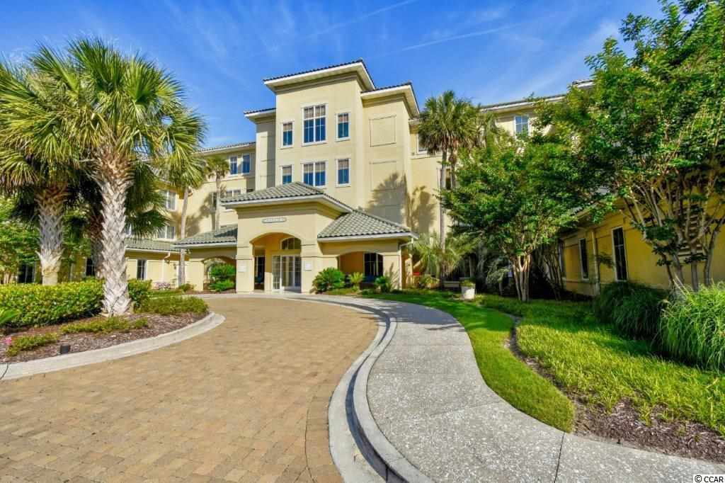 Immaculate 2-bedroom 2 bath 1st-floor condo in the upscale Mediterranean style gated community of Edgewater in the Barefoot Resort. This unit was used as a 2nd home only and never rented. The kitchen has a large breakfast bar with granite countertops and stainless steel appliances. There a dining area off the living room and both rooms have crown molding Master bedroom is quite spacious with tray ceiling. The master bath is huge with his & her vanities with a deep spa tub and stand-alone shower. Enjoy the peace and quiet of the outdoors in the screened in porch. This unit has a transferrable golf membership for a low entrance fee. Located in a gated neighborhood Intracoastal Waterway community. Amenities in the Edgewater community include a spacious pool and hot tub, with views of the boats on the waterway, an upscale, hotel style lobby and a sitting room off the hallway on each floor.