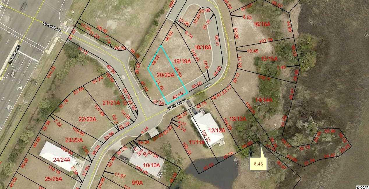 Lot in Gated Creek Front Community East of Hwy 17. Lot 20 The Enclave.  Community Swimming Pool and Community Dock. Lots 13, 14, 15, 16,17,18,19,20 and Commercial Lot 2 can be bought all together for SET PRICE with quick closing.