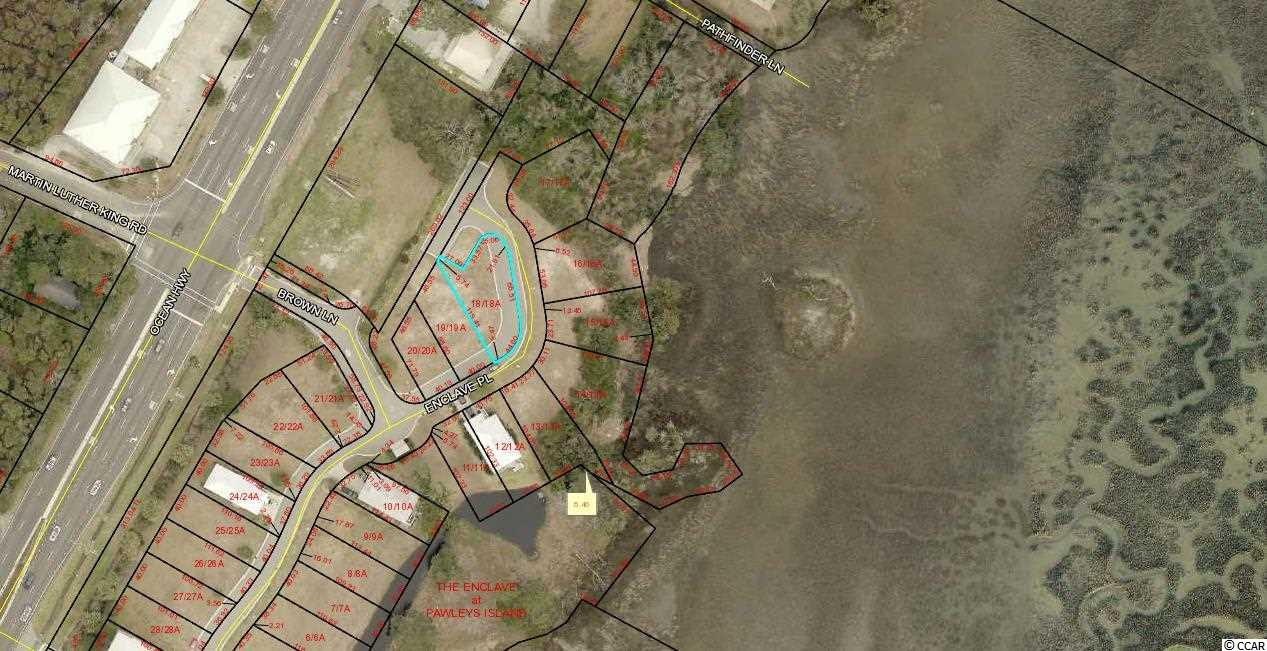 Lot in Gated Creek Side Community East of Hwy 17. Lot 18 The Enclave.  Community Swimming Pool and Community Dock. Lots 13, 14, 15, 16,17,18,19,20 and Commercial Lot 2 can be bought all together for SET PRICE with quick closing.