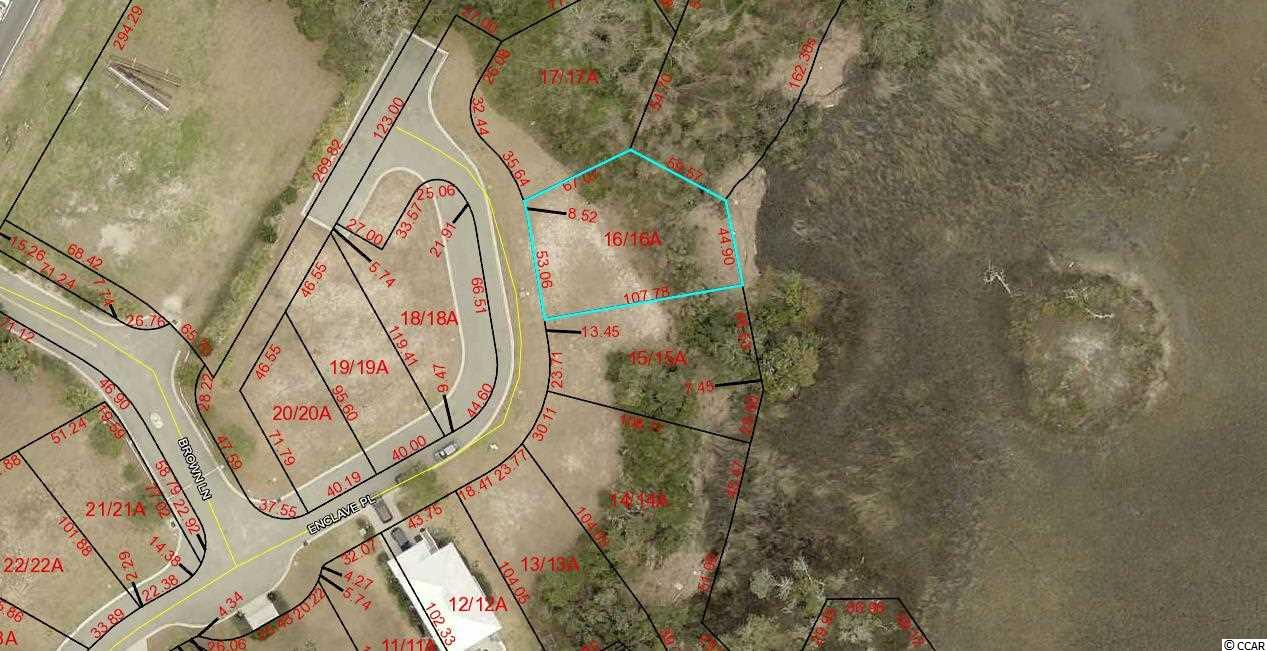 PRICE REDUCED! MARSH FRONT Lot in Gated Community East of Hwy 17. Lot 16 The Enclave.  Community Swimming Pool and Community Dock. Lots 13, 14, 15, 16,17,18,19,20 and Commercial Lot 2 can be bought all together for SET PRICE. with quick closing.