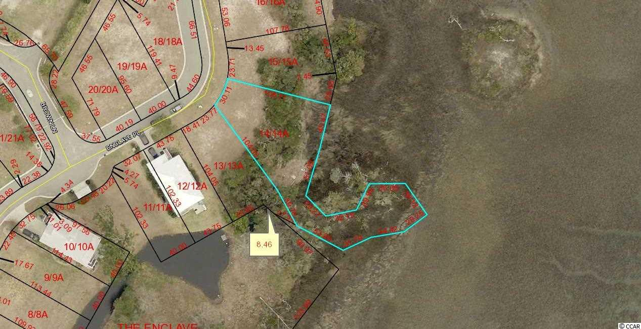 PRICE REDUCED! CREEK FRONT Lot in Gated Community East of Hwy 17. Lot 14 The Enclave.  Community Swimming Pool and Community Dock. Large, Irregular, Special.Lots 13, 14, 15, 16,17,18,19,20 and Commercial Lot 2 can be bought all together for SET PRICE with quick closing.