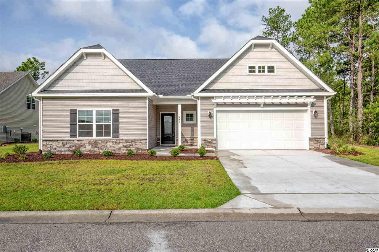 This home is located in the Beautiful Hillsborough Community, centrally located just off Highway 90 within minutes of the Historic Conway, the River Walk and International Drive providing direct access to Myrtle Beach, Shopping and Entertainment Venues. This Two Story ARBOR plan is currently under construction and can be visited onsite. Our ARBOR Home is situated on an Estate Home Site with Front and Rear covered Porch, this home also includes the following upgrades a Beautiful Stone Watertable, Front Entry Door Element Square Top & Brushed Nickel Handset. FLOORING: Engineered Hardwood at Foyer; Great Room; Kitchen/Dining Rm; Hall #1 to Bedrooms & Stairs to 2nd Floor. Carpet: at Master Bedroom; Bedroom #2, #3 & #4. Tile: 12x12 at Master Bath, Bath #2 & #3 and Laundry Room. Upgraded Designer Kitchen with Staggered Height Cabinets, Pendant Lights and Crown Molding, Granite Countertop; Range, Oven/Microwave and Dishwasher are Stainless;. Recessed Lights at Kitchen and Family Rooms. Comfort Height toilets in Master Bath, Bath #2 & #3; Raised Vanity at Master Bath with a Bank Drawers at Vanity; Cultured Marble Vanity Top; Optional Master Bath Layout oversized Tile Shower with Bench Seat. Bath #2 & #3 has Cultured Marble Raised Height Vanity. Recessed lights at Family Room & Kitchen. Home includes Whole House Gutters. Ask us about the Benefits of an Energy Plus Home. Amenities include lighted Fountains at the Community Entrance, a lovely tree line entry leading to the Club House and Swimming Pool. Just added screen porch, W/D, fridge, and blinds!