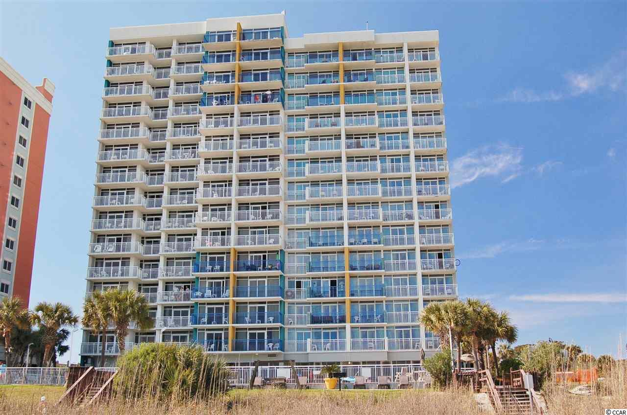 Only a couple of blocks to the fabulous Myrtle Beach Boardwalk and all the entertainment, shoppng, dining and attractions along the way. Triple sliding doors afford some of the best ocean views on the Grand Strand. This well appointed unit includes ceramic wood floors, granite counters and beautifully furnished. Inside and Outside Pools, Lazy River, Whirlpool are some of the amenities available. Outstanding Rental income from the on-site Rental company.