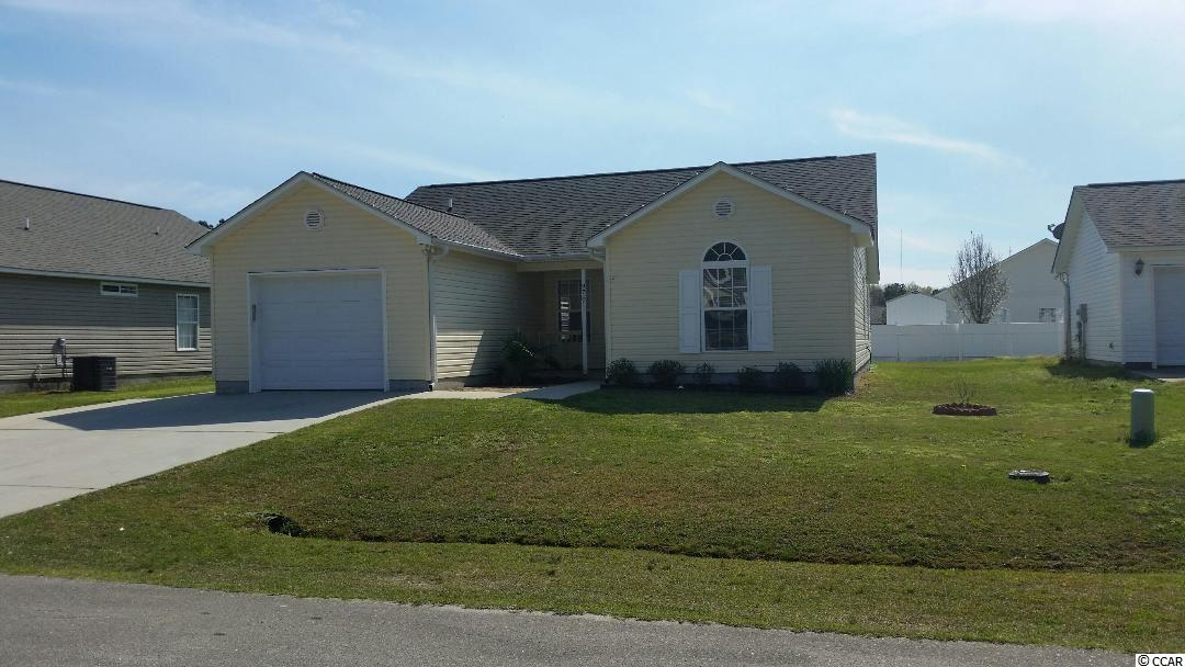 Very nice three bedroom/ two bath home in the desirable St. James community. Brand new carpet and paint. Large semi-fenced yard (the additional fencing is available but not installed). Oversized one car garage. Convenient location for everything that Myrtle Beach and Murrells Inlet has to offer.