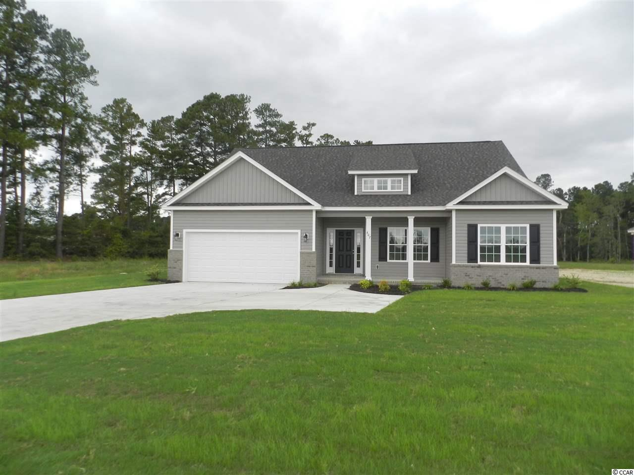 New construction! This beautiful three bedroom, 2 full bath custom home is on a .69 acre lot, minutes from downtown Conway! This home is the very popular Sullivan floor plan. Beautiful open kitchen with white cabinets, granite counter tops and stainless appliances, as well as subway tile backsplash. The spacious family room has a vaulted ceiling, waterproof laminate flooring and ceiling fan. The Dining area has picture frame wainscoting and also waterproof laminate flooring. The large Master Bedroom features a tray ceiling, a huge walk-in closet, double sink vanity and a linen closet. Home has a split bedroom plan with two guest bedrooms and a bath as well. There is also a covered porch and a patio. Photos are of a completed, similar home in another neighborhood and may have different features. Home is currently under construction and will be done July 2019.