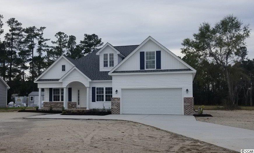 New construction! This beautiful three bedroom, two full bath custom home is on a 1.08 acre lot with a Bonus Room over the garage, minutes from downtown Conway! This home is our Poplar floor plan and has beautiful open kitchen with white cabinets that have the soft close feature, granite counter tops, stainless appliances, subway tile backsplash, pendulum lights and hardwood flooring. The spacious family room has a vaulted ceiling with fan,hardwood flooring and 3 transom windows. The Dining area has picture frame wainscoting and also hardwood flooring. The large Master Bedroom features a tray ceiling, a walk-in closet, double sink vanity and a linen closet. Home has a split bedroom plan with two guest bedrooms and a bath as well. Both Bathrooms and Laundry will have ceramic tile flooring.  There is also a covered porch and a patio. Photos are of a completed, similar home in another neighborhood and may have different features. Home will be completed in August/September 2019.