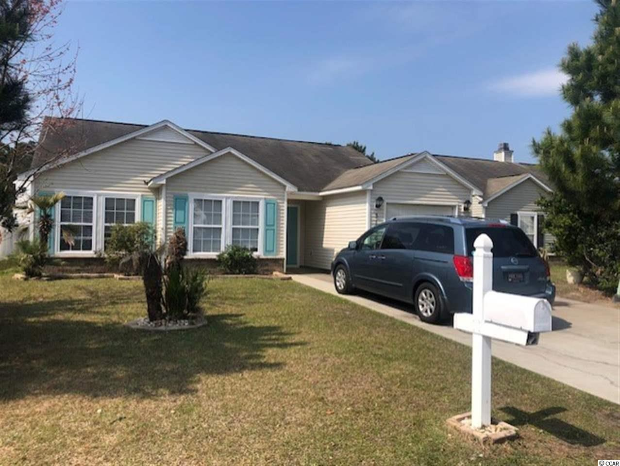 COME SEE THIS ADORABLE THREE BEDROOM TWO BATH HOME IN POPULAR BELLEGROVE OAKS! THIS HOME HAS BEEN FRESHLY PAINTED AND CLEANED AND IS MOVE IN READY! LIGHT & BRIGHT WITH A HUGE EAT IN KITCHEN, BEAUTIFUL FLOORING IN THE FOYER, LIVING AREA AND HALLWAY, PLUS A LARGE WALK IN CLOSET IN THE MASTER BEDROOM WITH ADJOINING BATHROOM!!! ENJOY YOUR SUMMER NIGHTS GRILLING OUT OR RELAXING ON YOUR OVER SIZED BRICK PATIO OVERLOOKING YOUR PRIVATE FENCED IN YARD WITH IRRIGATION SYSTEM!!! HVAC ONLY 3 YEARS OLD! BELLEGROVE OAKS IS LOCATED IN THE SOUGHT AFTER CAROLINA FOREST SCHOOL DISTRICT WITH THE ELEMENTARY AND MIDDLE SCHOOL ONLY MINUTES AWAY! CLOSE TO RESTAURANTS, GROCERY STORES AND ONLY A 10 MINUTE RIDE TO THE BEACH AND ALL THAT THE GRAND STRAND HAS TO OFFER! THIS ONE WILL NOT LAST LONG, CALL US TODAY TO MAKE THIS YOUR HOME!