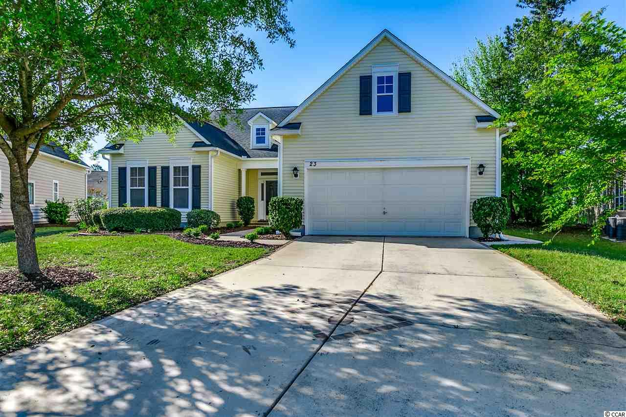 Make sure to take a look at this fantastic all one level home in Murrells Inlet. Right when you open your double front doors you will notice the high smooth ceilings and the open concept. The living room includes a gas fire place. The massively sized kitchen includes white cabinets with a work island. The Master Bedroom features a tray ceiling with an expansive walk-in closet. The Master Bathroom has a walk-in shower and double sinks. The other two guest bedrooms are on the other end of the home, making this split bedroom floor plan ideal! The home features a study room which could be used for an office, bonus room, man-cave, or kid-cave. Remember every room is all on one level, no stairs! When you walk out the back sliding glass doors you with notice a huge screened in porch that over looks your backyard. This home is tucked back on a cul-de-sac perfect for privacy and awesome if you want to avoid noise from drive through traffic. The Community of Linksbrook in Prince Creek has a community pool, tennis court, clubhouse, and gym. Make sure to put this on your list of homes to view with your Realtor today!
