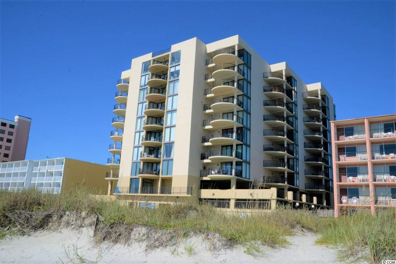 Wow! Spectacular, spacious, oceanfront with large balcony, 3 bedroom, 2 bathroom, fully furnished, beautifully decorated and appointed condo in the Sea Castle building in North Myrtle Beach with a spectacular view of the ocean, beach and coastline. This top floor condo boasts floor to ceiling windows, tile floors, beautiful colorful furnishings, updated shaker style cabinetry, tile backsplash, wet bar and flat screen TVs. This spectacular condo is on a rental program but has been extremely well taken care of. Sea Castle is a great building with recently improved common area, an oceanfront pool, hot tub, kiddie pool, sundeck, picnic tables, outdoor grilling area, covered parking, overflow parking and an atrium.