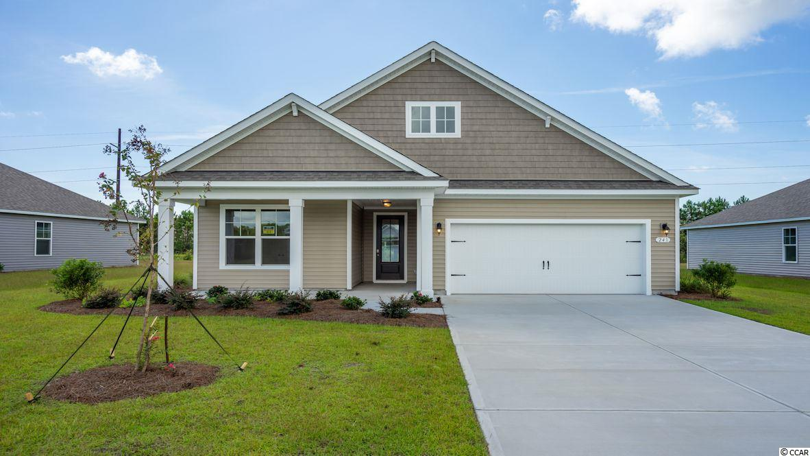 """Inlet Reserve is the place you want to call home! This is a natural gas community featuring 69 spacious homesites with private and pond views, conveniently tucked away in the heart of Murrells Inlet , yet just a short drive to championship golf courses, marinas, shopping, hospitals, beaches and the Marsh Walk where you'll find year round entertainment and award winning restaurants with spectacular views of the salt marsh and wild life.  If you are looking to downsize, upsize, or to add a pool and create your own outdoor living space, Inlet Reserve has the homesite and home for you.  We offer a mix of 1 story and 2 story thoughtfully designed open living floor plans, perfect for entertaining family and friends. The Litchfield  is a 1 story home featuring an extended front porch with a cottage shake style elevation on the front, 4 bedrooms, 2 bathrooms, crown molding, 5 1/4"""" baseboard, trimmed out windows and 8ft. entry door.This home features a large kitchen area with 36"""" staggered cabinets , granite countertops which includes a large gourmet island overlooking the family room and dining area, walk-in pantry, tile back splash, pendant lights and stainless steel appliances. This open floor plan is perfect for entertaining friends and family. Low maintenance Tile Look Wood floors throughout the main living area. Tray ceiling in Owners suite , his and hers walk-in closet, 5 ft. walk-in tile shower, garden tub, double vanities and bowls. Split floor plan with 3 nice size guest room. 11 ft. ceilings through the main living areas. Off the family room 8ft. double sliders open to a 9'x 25' rear covered porch with a huge back yard where you relax and enjoy your morning coffee or read a good book! New Community in popular St. James school district. Pictures are of a previous built home and model and are for representation purposes only. Ask about our included Smart Home Connection! Call and schedule your appointment today!"""
