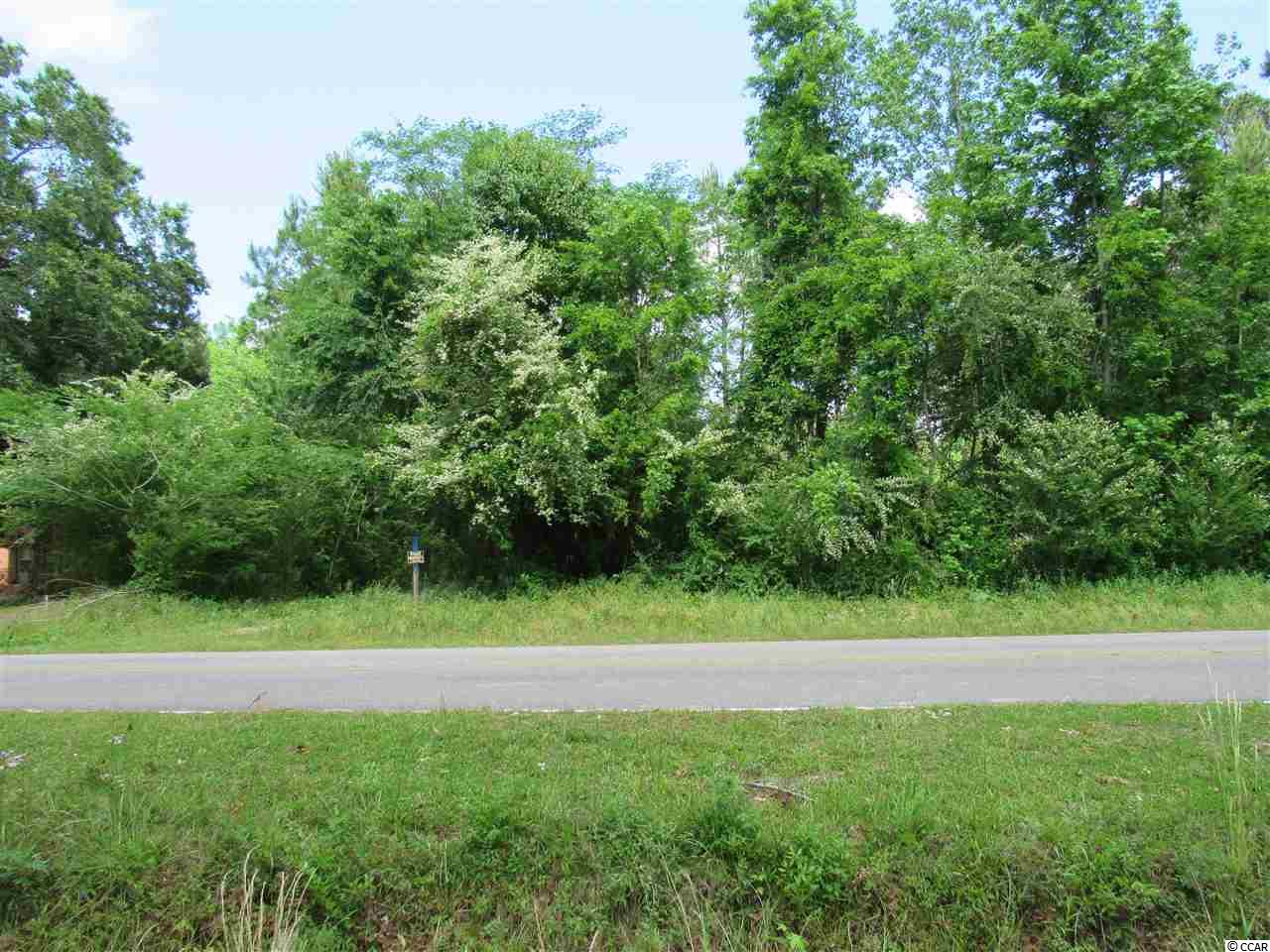 This is an awesome lot located in a wonderful country setting but with easy access to Georgetown, historical Downtown Conway, the beaches,  shopping, entertainment and recreation.  A large portion of the lot has already been cleared and ready for you to build your future home or you can also place a mobile home on it.  There are no deed restrictions or  home owners association fees. The property is zoned FA which allows for many uses either residential or commercial.  For those that enjoy boating the Bucksport Marina on the Waccamaw River is a mere 4 miles/4 minutes away.   Public Water, public sewer and electric are available at the street.  Buyer to pay tap fees for all utilities. Information is deemed reliable but not guaranteed and the buyer is responsible for verifying all information. Sign is on the property.