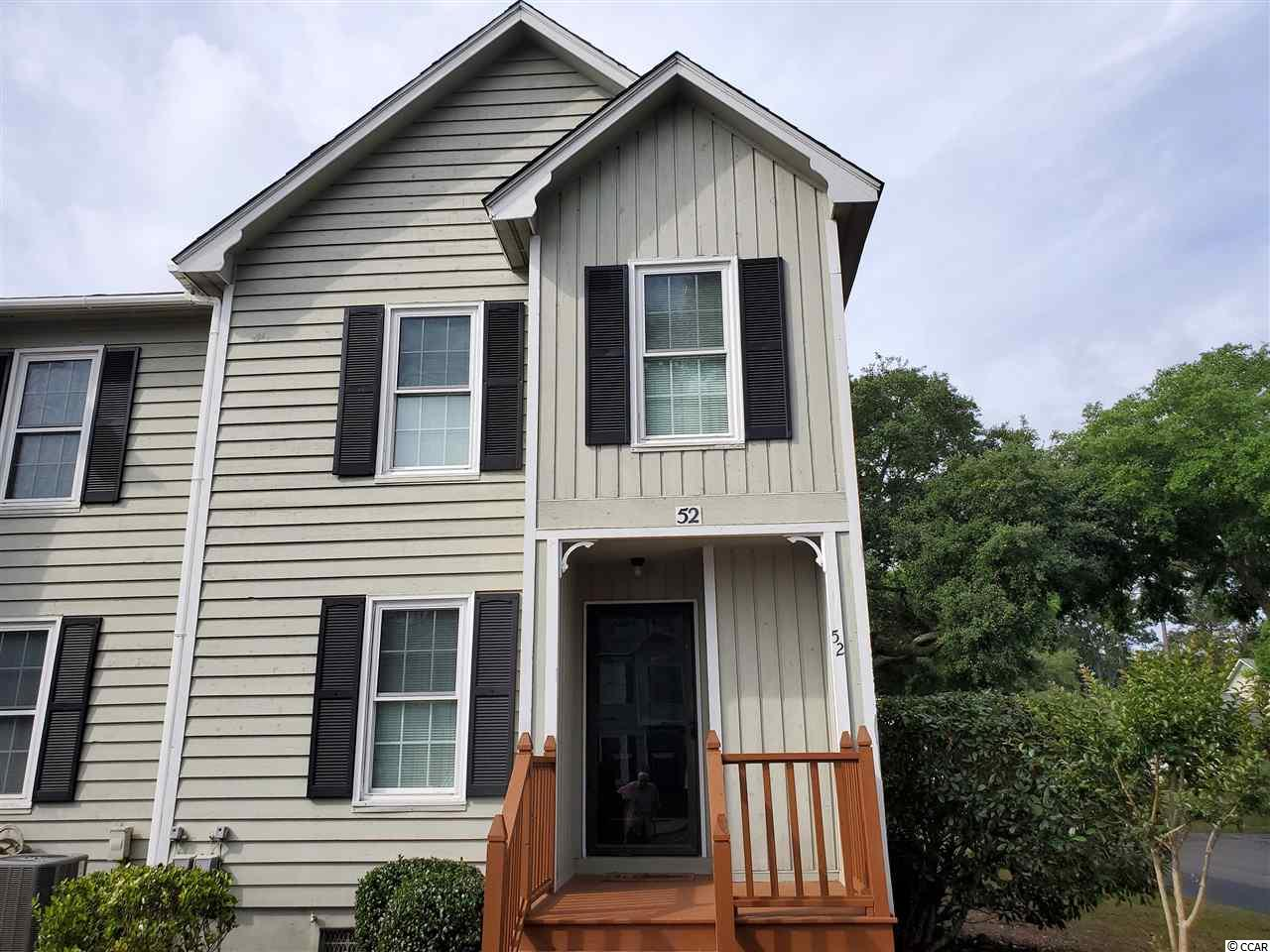 This end unit has all new stainless appliances in the kitchen. There is also new hardware on kitchen cabinets and baths. They have just installed new carpet on stairs and both bedrooms. New lighting in baths. New ceramic tile. Freshly painted throughout. There are two Master Suites with sitting areas and private baths. The HOA has recently enlarged the deck out back. There is attached storage on deck. Moss Creek is a low density townhome community nestled among mature trees and landscaping. Amenities include pool, tennis courts, clubhouse and friendly neighbors. Quiet area, only a short walk to the waterfront Murrells Inlet with Restaurants closeby. Easy access to shopping, dining, golf courses, hospital and other healthcare facilities.
