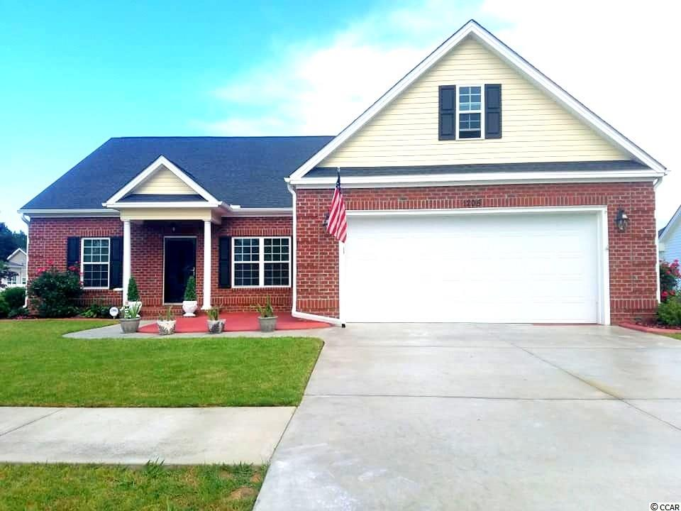 """Move -In-Ready! Enjoy this 2015 built home on a Water-view Lot in Conway's Most Highly Desired Community- Tiger Grand. This home offers a very open concept with Tray Ceilings in the Master Bedroom, an eat in Kitchen with Bay Window with water views, A large master bath and Closet, Formal Foyer, lots of closet space and much more. Home comes standard with lots of upgrades including but not limited too; Upgraded Brick package on exterior of home, laminate wood flooring, and carpeting, w car Garage that is finished and painted on inside with door remotes, Drop down stairs with floor attic space above garage, Full yard Sprinkler system, and rear 10' ½"""" x 14 Patio. Tiger Grand is a community of distinction that offers lots of mature landscaping, walking trails, Ponds, and a location that is unmatched! Call today to schedule your showing."""