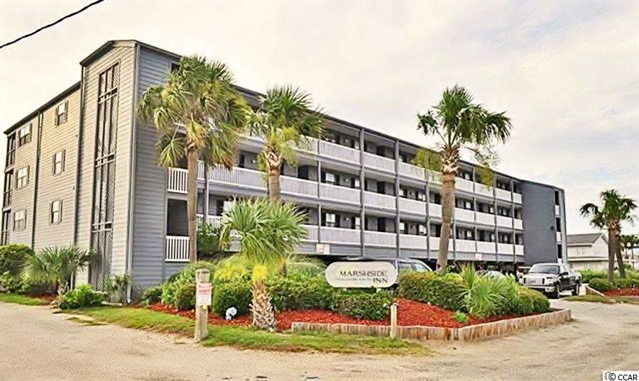 Marshside Inn sits directly on the marsh of Murrells Inlet, one block to the ocean in Garden City Beach and steps to the small downtown area featuring the Garden City Pier and restaurants. Unit 103 is a two bedroom, one bathroom, first floor unit with a screened in porch offering beautiful natural views and one of the best sunsets on the Grand Strand. The complex offers pool, hot tub, grilling/picnic area, attached ground level storage, and covered parking. Why rent when you can purchase your own beach retreat.