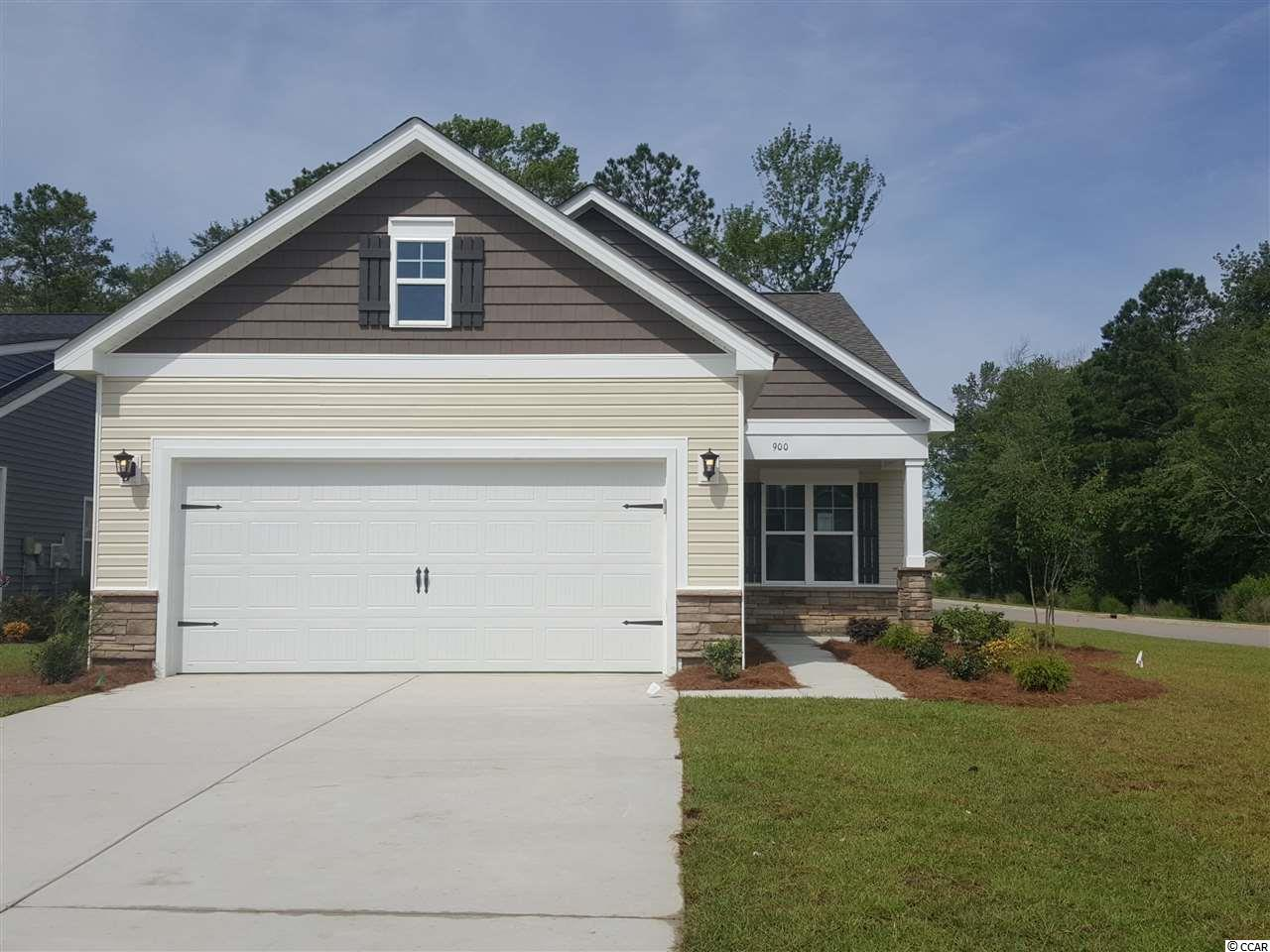 This Home is under Contract. This Whitehall floor plan features SS appliances with a Natural Gas Range, Granite Countertops, EVP Flooring in main living areas, Attic Storage over the 2 car garage, covered porch and irrigation.