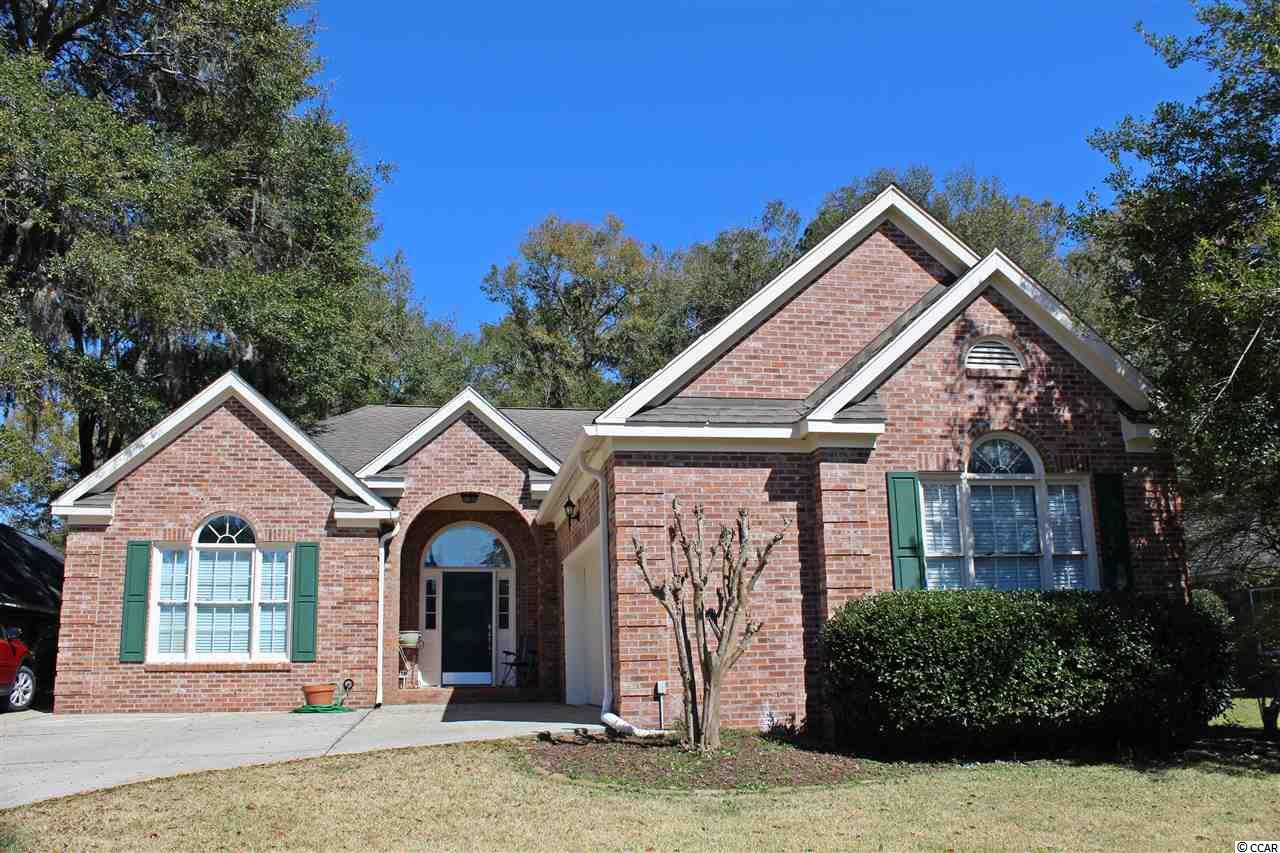 All brick home on a cul-de-sac in the prestigious coastal golf course community of Heritage Plantation. Some of the many features include: wood floors throughout, newly remodeled kitchen with granite counter-tops and stainless steel appliances, newly remodeled master bathroom with porcelain shower tiles, new paint throughout, pocket doors, new garage door opener 2019, new HVAC 2016, private back yard, just around the corner from the community pool and club house and not far from the Heritage Marina. There are 9 golf courses in Pawleys Island, the Heritage golf course and 8 other golf courses. Just a few minutes to Pawleys Island Beach. CLICK THE VIRTUAL TOUR LINK FOR: FLOOR PLANS, HD VIDEO, PICTURE GALLERY, INTERACTIVE MAP, AREA ATTRACTIONS AND MORE.