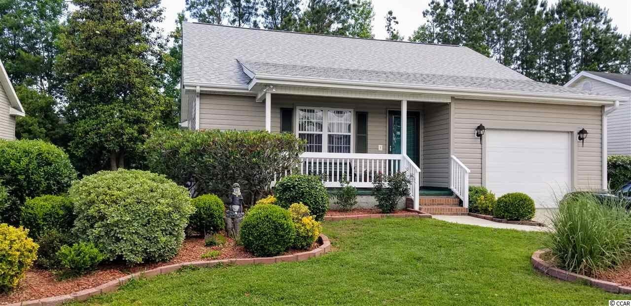 Extremely well cared for one owner home. Has only been used as vacation home approximately 2 weeks per year. Never rented. Open living room/dining/kitchen with area designed for desk or hutch. Large master with private full bath and walk in closet. 2nd bedroom perfect for guests. Sun room and patio to enjoy the peaceful back yard with creek. Front porch perfect for a couple of rockers. Roof and HVAC approx. 2 years old. 1 car attached garage has been used as man cave with removable carpet. Extra wide driveway. Less than 10 minutes from Garden City Beach, Marshwalk, Huntington Beach State Park and Brookgreen. Inlet Estates is a charming little quiet community just waiting for you to move in.