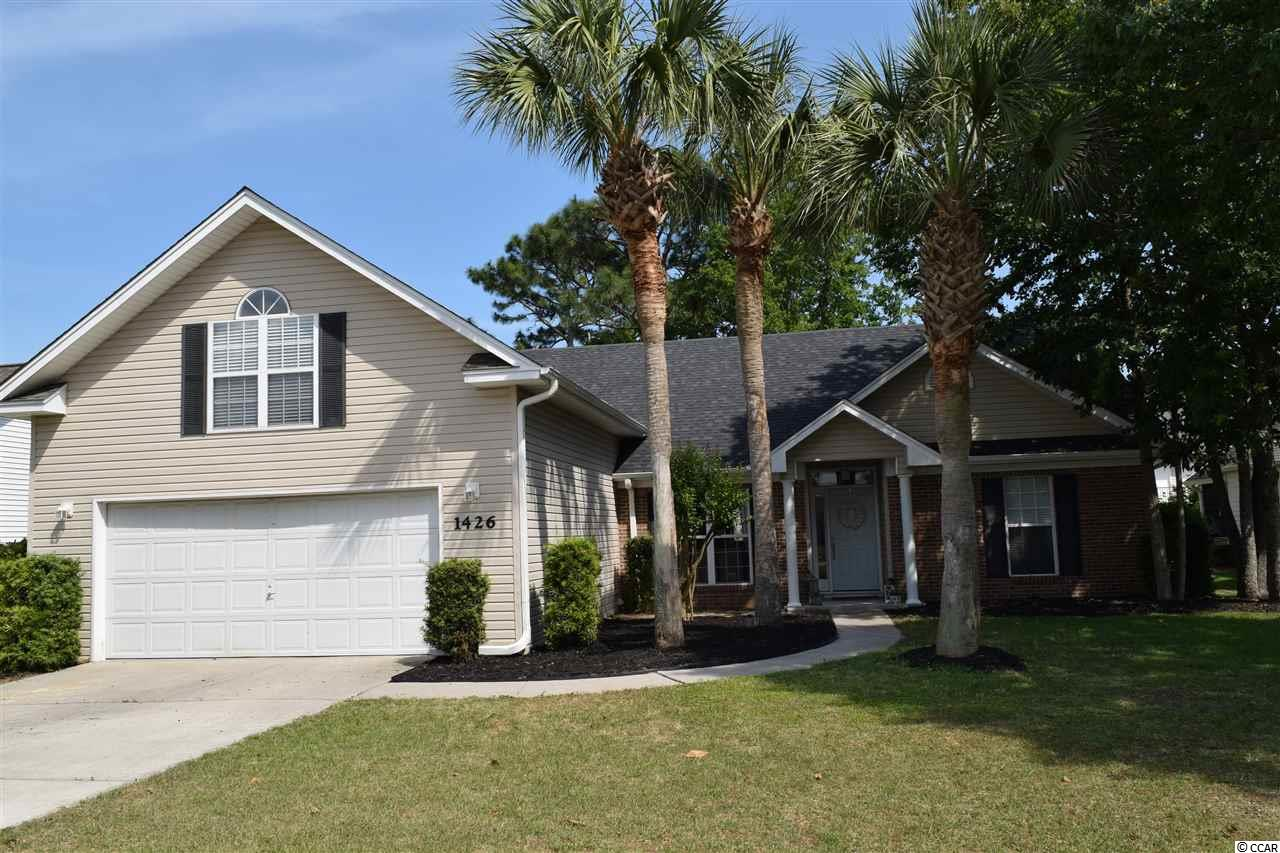 This beautiful spacious 4BR/2BA single family home in Ashton Glenn subdivision of Surfside Beach. This home features a bright and comfortable floor plan, vaulted living room, kitchen with custom cabinetry and a closet pantry plus a separate dining area with bay windows. The lovely master suite boasts a spacious walk-in-closet and a relaxing garden tub. This home also has a bonus room that can be used as a possible 4th bedroom. You will enjoy the level spacious lot and the relaxing patio overlooking the peaceful setting. Great area close to restaurants, shopping and area hospitals and only a 15 minute ride to the airport.