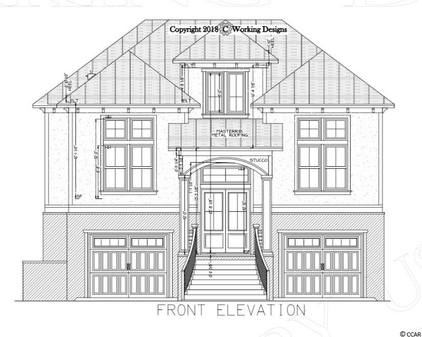 """Beautiful custom home just built on the Intracoastal Waterway in the gated community of Carolina Waterway Plantation. This home will feature 5 Bedroom, 4 Bathrooms, custom kitchen with 80"""" cabinets, granite counters and professional grade Thor appliances. The outside features stacked stone  with stucco, bronze windows, and custom horizontal metal railings. All the wet areas will be tiled and all the bathrooms will have tiled showers. The remainder of the house will have hardwood floors. The great room will have 13ft ceilings with all other ceilings with incredible views of the waterway. All interior and exterior doors are 8ft tall. The house has over 1200 square feet of covered porches with pine ceilings overlooking the waterway.  Beautiful black pearl custom infinity edge pool, and outdoor kitchen. The community also has private boat storage, community pool, playground, gazebo overlooking the waterway, tennis courts, boat launch, and it's a gated."""