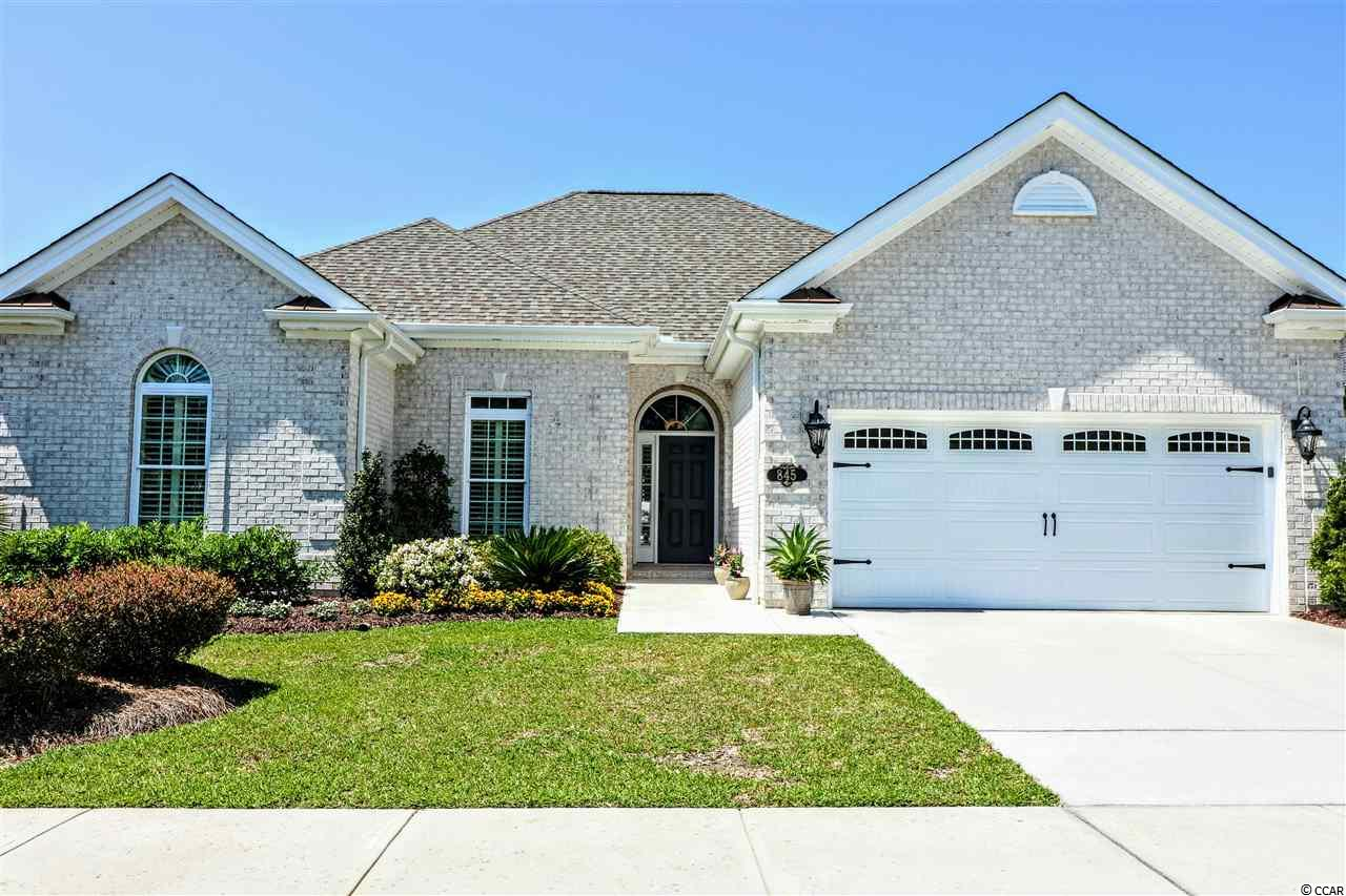 """This is the one!  Welcome home to Cipriana Park at Grande Dunes, one of the finest neighborhoods in the finest area of the Grand Strand. This all brick home has mature and well maintained landscaping, sits on one the finest lake homesites, fenced rear yard and offers incredible sunset views from the gorgeous screened porch.  The Cypress, the most popular plan, got better here, with the addition of 4 feet added to the garage, 2 ft added to both guest rooms and the addition of a powder room.  Home is open and bright, split bedroom plan, large screened porch (with powered sunshade), a covered porch and an additional grilling patio.  Distinctive """"wood look"""" tile in all the living areas, extensive trim and moldings throughout and coffered ceiling in the Great Room.  The Owners suite offers a large walk in closet, custom tile shower, dual sink vanity and added make-up vanity.  The gourmet kitchen is beautiful and functional.  Decorative lighting, curtains and plantation shutters all add to the appeal of this home.   Golf cart to all you need, including the private Ocean Club."""