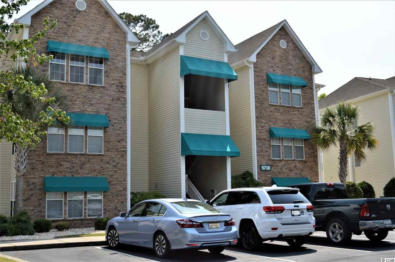 Wonderful, well-maintained, one bedroom condo close to the beach in the Arcadian section, of Myrtle Beach. Unit features an open concept, laminate flooring in the living area, tile in all wet areas, vaulted living room ceiling, granite counter tops, stainless appliances, a cozy sunroom (could be second bedroom), large master with a walk-in closet, pantry, and a separate laundry room. The unit is in the gated community of Savannah Shores. Savannah shores amenities include an amazing pool, tennis courts, sand volleyball court, club house, putting greens, private car washing station, an 8 port golf cart charging station, play area, dog park, and lush landscaping. Private garages are available for a fee. A beautiful relaxing place to call home or use as a weekend get-away.