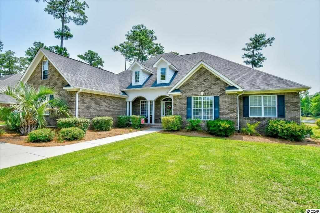 Incredible Value for this 4BR (+Bonus) charmer on a PREMIUM LAKE lot located in Cypress River, one of the Grand Strand's Premiere Gated waterway communities. Located on one of the interior roads within the community,  you won't notice a lot of traffic as you approach this custom brick home with beautiful curb appeal.  Inside you'll find a formal dining room along with stunning well kept wood floors throughout the great room.  Take note of the incredible water views right from your living room.  All 4 bedrooms are on the first floor and this home offers amazing flexibility for your space planning.  One of the bedrooms is currently set up as an office and another has a high end Murphy Bed for those extra guests to utilize without limiting your options for space.  Along with the 3 guest rooms, there is a very large Master suite with sitting area and access to the back yard.  The master bath offers dual vanities, large walk in closet, and separate tub and shower.The chef in the family will love the large kitchen with quartz counters, tons of storage, tile backsplash, high-end stainless appliances, a large center island and a sitting area with fireplace so your guests can be included in your prep.  You'll also find the convenience of a bar area, and an eat-in breakfast room and access to your outside living areas. Upstairs there is a LARGE bonus room that you can use as a 5th bedroom, game room, project center, etc.  Outside, you'll find stunning water views.  You can choose to spend some time on your large screen porch, or step out and enjoy your paver patio where you can enjoy a fire on the cool fall nights or simply watch the birds and turtles enjoying the water front.  Cypress River Plantation offers everything on your wish list including 24 hr Guard gated community, Clubhouse, Pool, Tennis & Basketball Courts, Fitness Center, 2Lane Boat Ramp, Day Dock & also has a Boat Storage area. Beautiful Beaches are just minutes away.