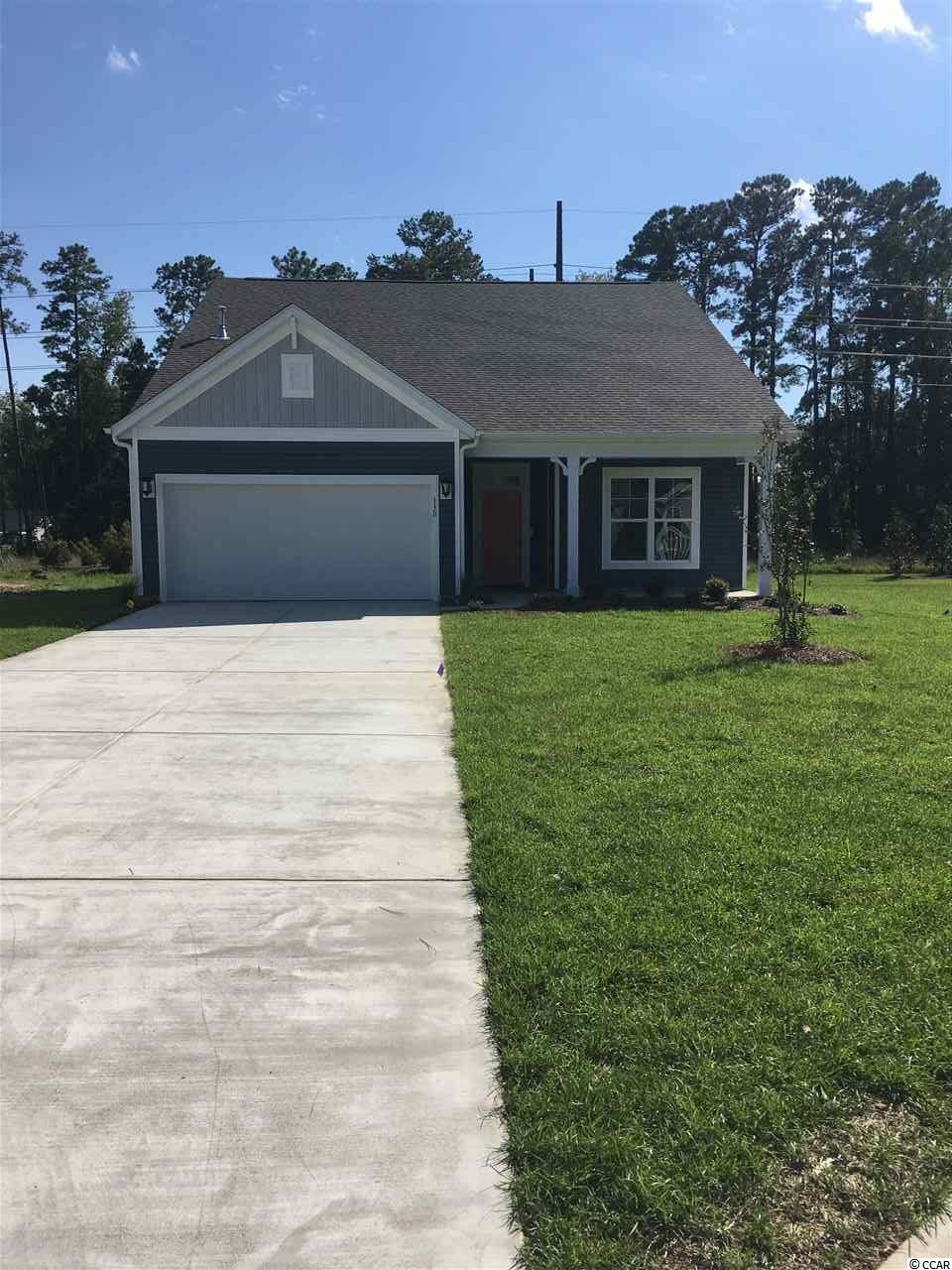 This Cordova home in Surfside Plantation is located off of HWY 707, close to public beach access in Surfside Beach. Enjoy close proximity to golf, shopping and dining in Myrtle Beach and Surfside Beach, the Myrtle Beach State Park and the Market Common District. Located on a corner lot, this 3-bedroom, 2-bathroom home features a secluded master bedroom and private dining. Welcome guests into your home at the extended foyer featuring the latest luxury flooring. The dining room is perfectly situated at the front of the home, next to the kitchen. The kitchen features spacious granite countertops, stainless steel Whirlpool® appliances, including refrigerator and gas range and is conveniently located near the breakfast area. The great room features luxury floors and large windows. The master bedroom boasts private views to the backyard. The master bathroom features a walk-in shower, tile floors, double raised vanities and a large walk-in closet. Screened porch in the backyard, fully sod yard, and attic storage located in the garage with pull down stairs. Laundry package and blinds included. Every home is built to ENERGY STAR® standards, is tested, and receives an individual ENERGY STAR certification saving you money every month on your utility bills. Home is under construction, completion in September 2019. Photos of a previously built home.
