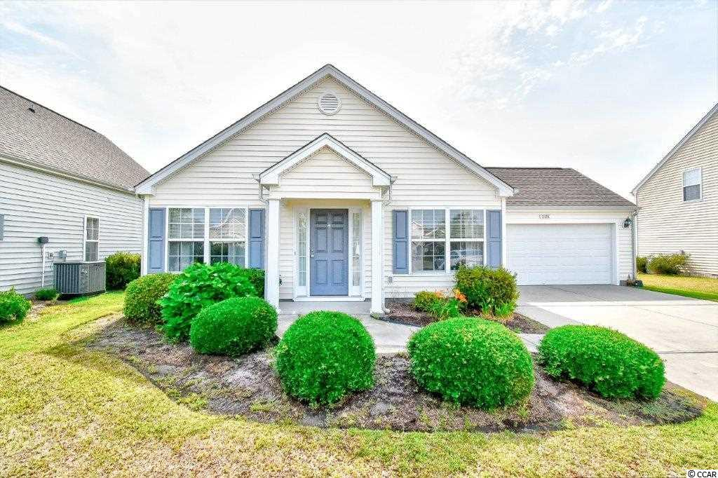 Incredible value for this well appointed home in The Farm. This popular Essex Model with 2 car garage is the perfect location to call home. This home has an open floor plan, upgraded floors throughout, and vaulted ceiling in the living area. There are two large guest bedrooms and a shared bathroom that offer plenty of flexibility to use both as an bedrooms or keep one for a flex/office area. At the back of the home is large master suite again with vaulted ceilings, and a large walk in closet. The master bath has been upgraded with a large walk in DOUBLE TILE SHOWER. When it comes to indoor/outdoor living space this home has you covered. On the back of the home is a spacious screen room with eazy-breeze window system that looks out to the fenced in back yard. Out back you'll find a well cared for landscaping plan with room to add additional outdoor living area by Amenities include an 8000 square foot pool with clubhouse, a smaller pool, fitness room, basketball courts, playground, and more. Great location, minutes to the beach...close to shopping, dining, golf, Broadway at the Beach, Myrtle Beach International Airport, Highway 31, Ocean Bay Elementary and Middle schools, and so much more. The garage on this home will make the perfect workshop and was wired with additional outlets for convenience.