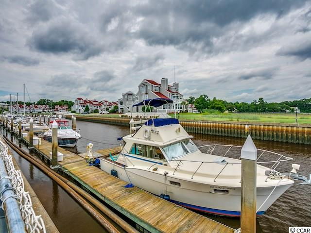 40' boat slip in Mariners Pointe - a desirable Intracoastal Waterway community/marina in Little River with the Atlantic Ocean less than 3 miles away! Boat Slip #S-46 provides easy access in & out of the intracoastal waterway. Mariners Pointe features an on-site clubhouse with bar, game room, study, large outdoor pool & hot tub overlooking the marina, and basketball/tennis courts. Other amenities include a pump out station, storage locker and on-site dock master. Electric metered separately. Close to historic Little River fishing village - lots of shopping, fresh seafood dining, and places to cast a line. This is a wonderful way to take advantage of the relaxed Little River lifestyle of being on the water. HOA information has been provided to the best of our ability. All information should be verified and approved by buyer.