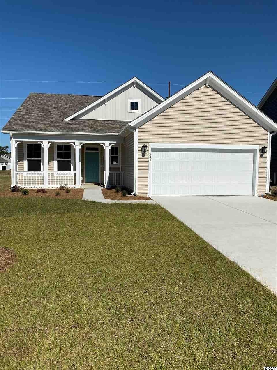 Under contract! Welcome to Surfside Plantation, a charming coastal Beazer Homes community with Natural Gas and is located 3 miles to the beach. This home features 3 BD, 2 BA, Carolina Room, and 2-car garage. Pictures shown are from previously built homes. For more information, please visit the on-site sales office.