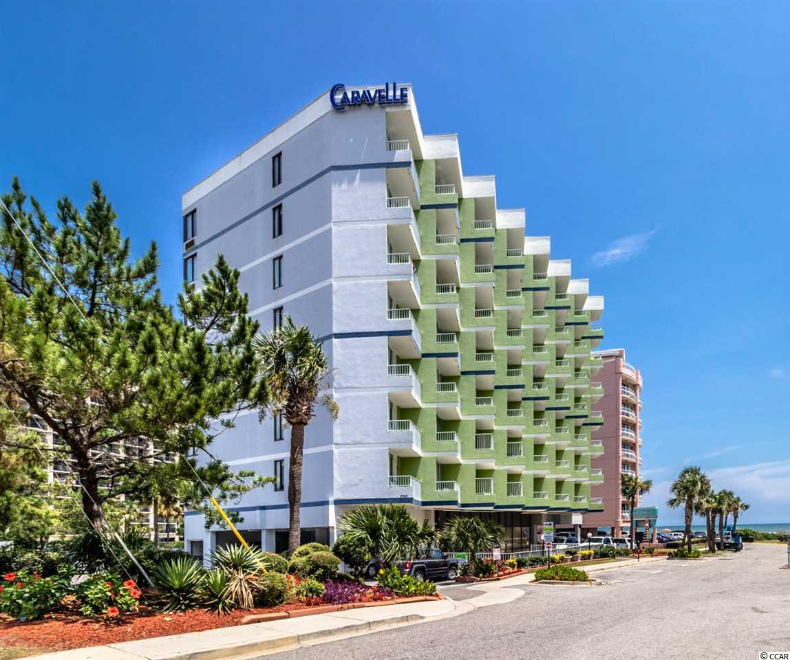 Beautiful spacious 1 bedroom oceanfront condo located in the heart of Myrtle Beach. This unit has a full kitchen and is beautifully decorated. This condo features a Queen Size bed in the bedroom, and an additional Queen size bed in the living area. Great Ocean view from the balcony where you can sit and relax listening to the sound of the waves and feeling the ocean breeze. Caravelle Tower has a great indoor/outdoor pool and just a few steps from the Beach. This would make a great vacation getaway or investment property so don't miss the chance to own in the Caravelle Tower. All measurements are deemed reliable, but not guaranteed. Buyer is responsible for verification.