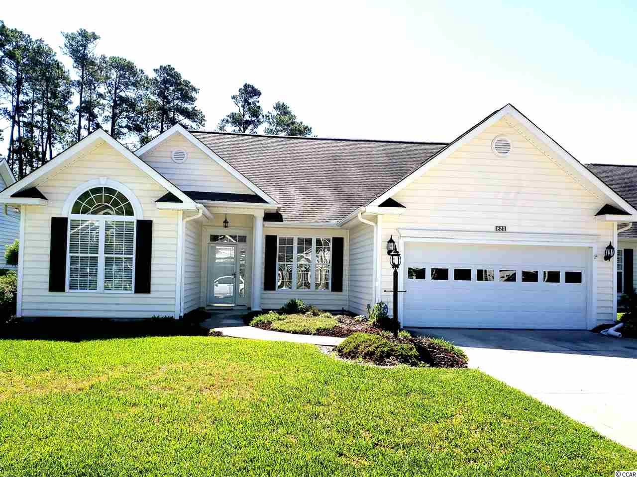 Have you been searching for the Perfect forever home, well you need to see 820 Helms Way, in the quiet 55+ community of Myrtle Trace South! This well kept 3 bedroom, 2 bathroom home welcomes you with A fireplace, split floorplan, hardwood floors in the Livingroom and Sunroom and Ceramic Tile in the Bathrooms! With only one owner, the home has been well Cared for and is move in Ready! Enjoy the tranquility of your private backyard, with lush landscaping which includes irrigation and a retractable Sun setter awning for those sunny days! Home is located close to Conway Medical Center, Many Golf Courses, shopping and restaurants, Oh And THE BEACH! Don't let this Move in ready home pass you by, tell your agent to  bring you to your new home today