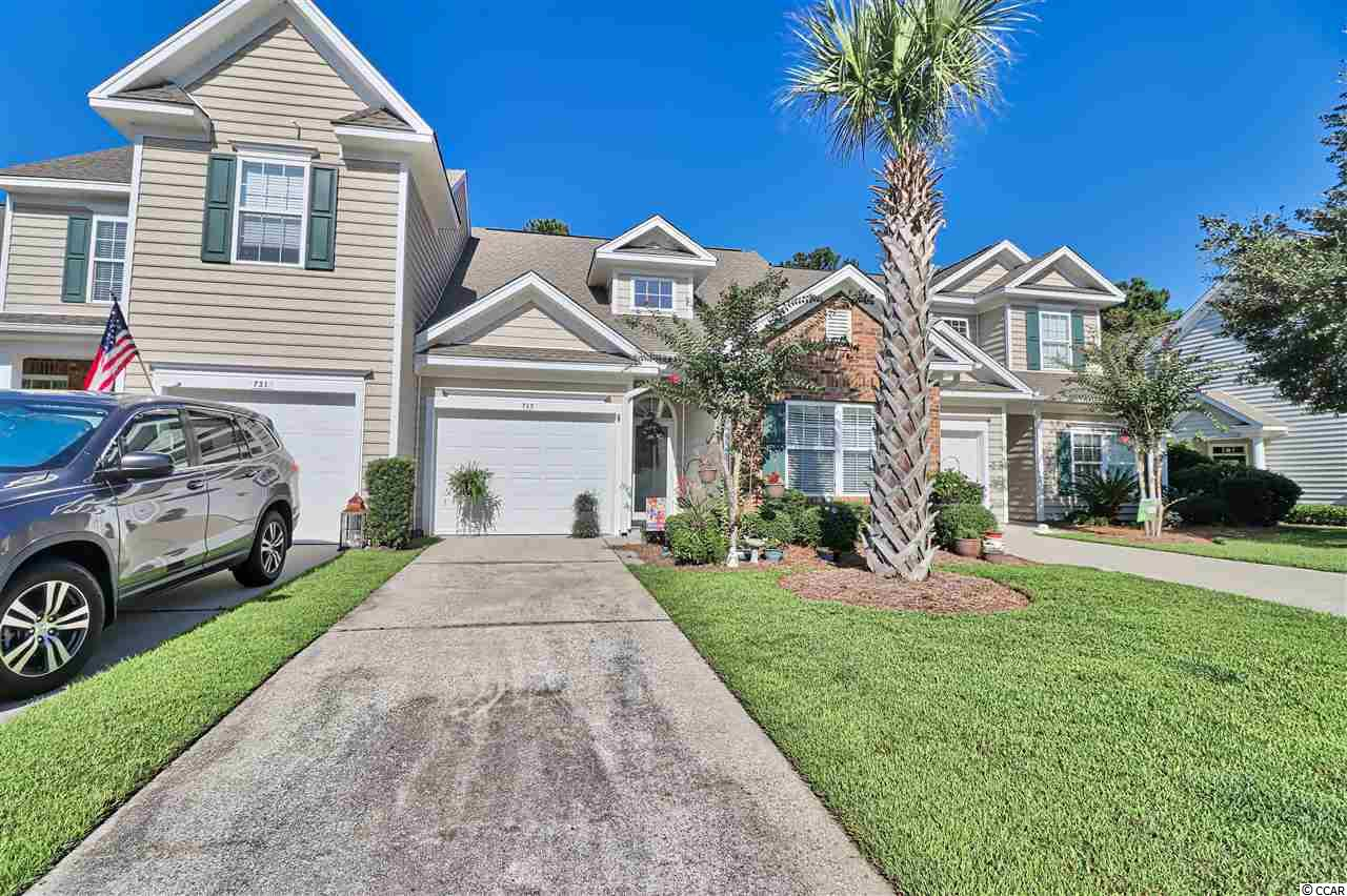 "Price reduced on this 2BR/2BA unit which features a sun room and a private 1-car garage with pull down stairs.  Kitchen with granite countertops.  Low utility bills due to Santee Cooper ""Smart Testing"" for energy efficiency in May of 2013.  Current owners extended back patio and yard is landscaped to the hilt.  Fantastic gated community close to shopping, dining, the Murrells Inlet Marsh Walk, the beach, and, of course, golf.  HOA includes all lawn maintenance, on-site clubhouse, pool, tennis courts, picnic area with grill, soccer fields, play area and a fire pit.  Also features benches to relax by the lake.  Sidewalks and walking trails with wider streets perfect for dog walking, bike riding or just walking.  This unit is absolutely spotless.  All appliances convey except washer and dryer.  Home, sweet home!!"