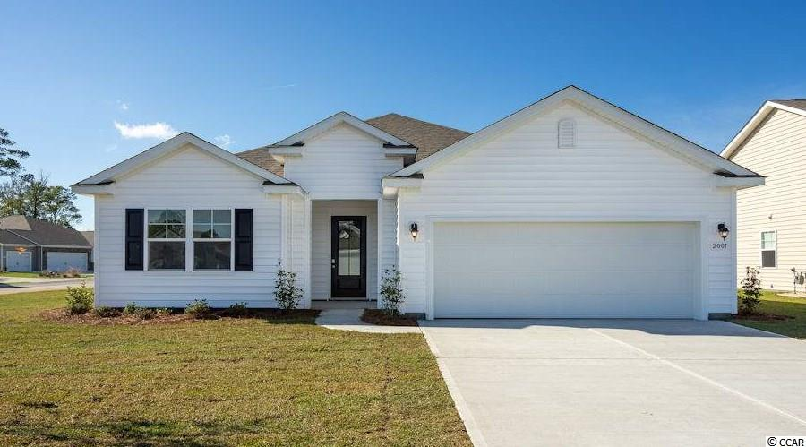 """New master-planned community by DR Horton in popular St. James school district. Community offers pool, fitness room, open air pavilion/clubhouse, and food prep room by the pool, playgrounds, fishing dock in one of the many community lakes, sidewalk/walking trails throughout! Jump in the car and you're less than 10 minutes to the beach or the shopping & restaurants nearby.  LOCATION, LOCATION, LOCATION!  Close to everything, but outside of the hustle and bustle!  IT'S A LIFESTYLE!  ENJOY LIFE!  Pool & amenity center with workout room included in the cost of the HOA.    You've got to see this owner's suite!  This is the popular Eaton plan: an open 3 bedroom, 2 bath ranch. Wood floors are located throughout the home, with tile in wet areas and carpet in the bedrooms. Fabulous walk-in pantry, upgraded granite countertops and island with breakfast bar. 36"""" staggered maple cabinets and upgraded pendant lighting in kitchen. Stainless kitchen appliances are standard. Owner's suite offers a large walk-in closet, 5 ft. walk-in shower, double vanity and sinks.  Sliding glass doors lead to a huge covered patio. Nice corner lot  Home and community information, including pricing, included features, terms, availability and amenities, are subject to change and prior sale at any time without notice or obligation. Square footages are approximate. Pictures, photographs, colors, features, and sizes are for illustration purposes only and will vary from the homes as built.  Equal housing opportunity builder."""