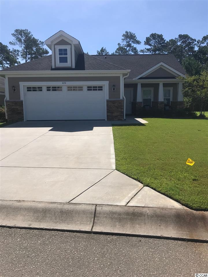 This is the Edisto floor plan with maintenance free living. This home offers granite, Stainless Steel appliances, Tile and hardwood floors in all main areas and carpet in bedrooms. Natural gas, hardy board and stone exterior. HOA maintains the exterior of home and all landscaping. Clubhouse with pool and fitness room. Call for details. Sellers are SC realtors.