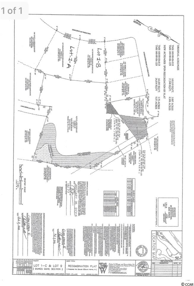 Amazing opportunity to build your Dream Home in Dunes Cove. This .75 of a  Acre lot provides massive space and privacy to Build exactly what you want. No HOA- only a voluntary fee each year! Do not let this once in a life time opportunity pass you by! This amazing lot is located less than a 1/2 mile from the ocean and is a easy golf cart ride to the ocean.. *** Agent related to owner.