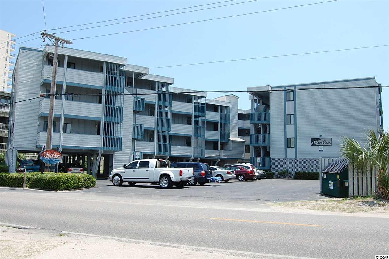 Unique oceanfront complex in Garden City Beach with covered oceanfront gaxebo, private oceanfront pool, grilling patio, and elevator. Unit 111 features a spacious screen porch located on the north end side of the building. End unit means more windows and light! Tastefully furnished in beach decor, ceramic tile and laminate.