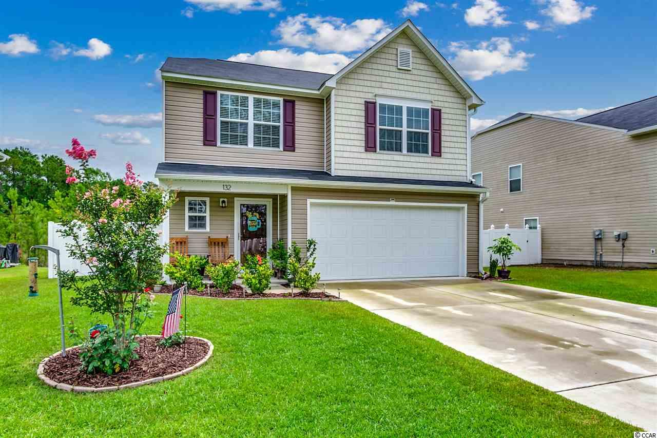 "Beautiful, better than new home built in 2018.  This spacious 3 bedroom, 2 1/2 bath home also features a large 18' x 11' bonus room/loft.  There are tons of upgrades which include wood flooring, huge rear patio, gutters, fenced in back yard, sodded yard, front storm door, 3 flower beds, garage door opener, ceiling storage racks in garage, Allen + Roth 2"" cordless faux wood blinds on all windows, ceiling fans in 3 rooms and microwave oven.  Ask your agent for a list.  Conveniently located close to major roads, shopping, restaurants, hospital and a short drive to the Cherry Grove and North Myrtle Beach beaches.  This home isn't going to last long so make an appointment to see it today.  Home is not located in a flood zone."